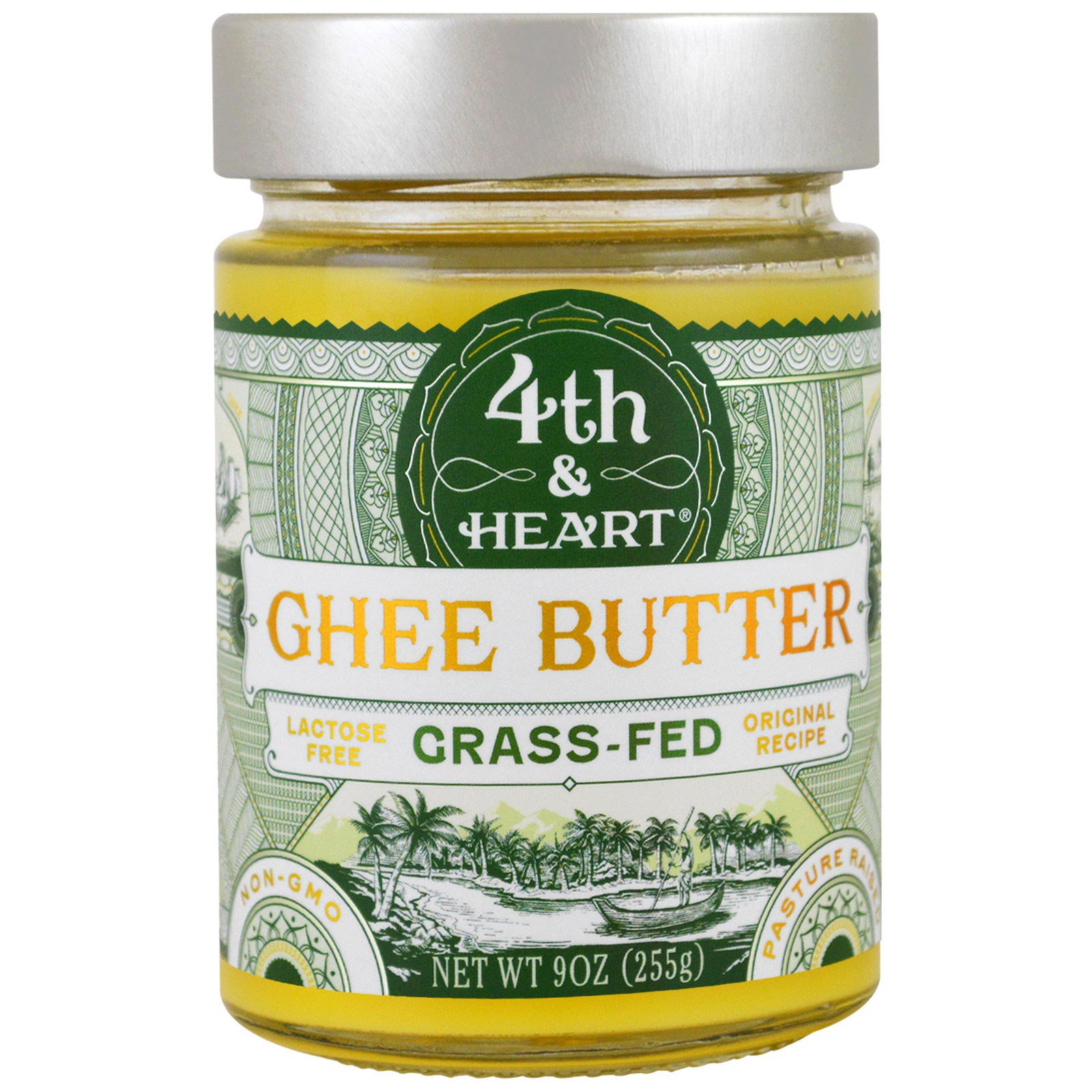 4th & Heart Grass-Fed Ghee butter.
