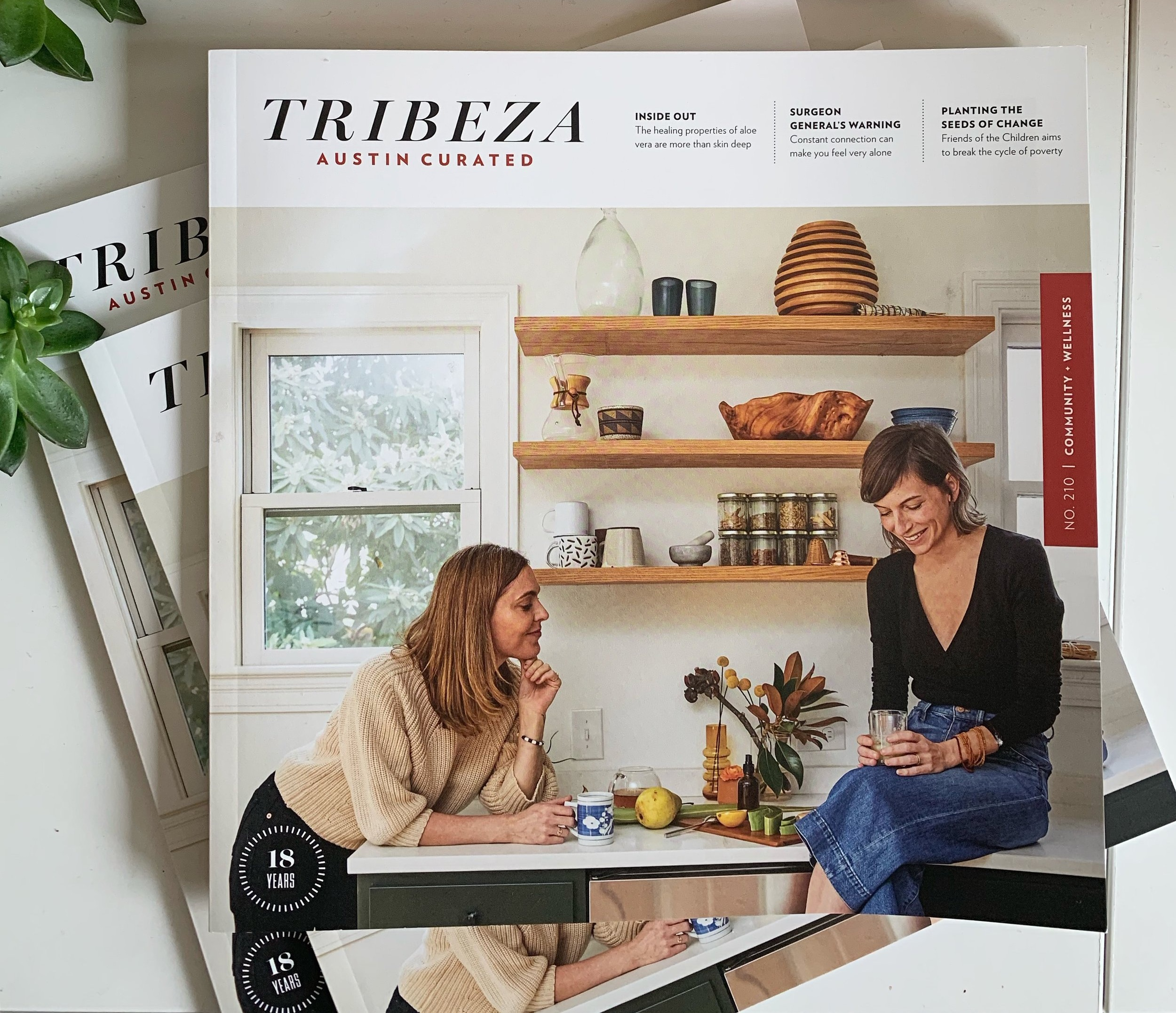 Tribeza magazine wellness issue sarah senter lac
