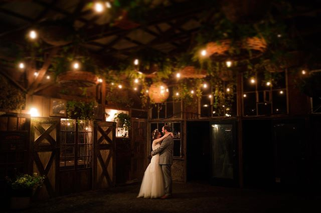 Melanie and Eric escaped in the middle of the wedding to have their own intimate dance.