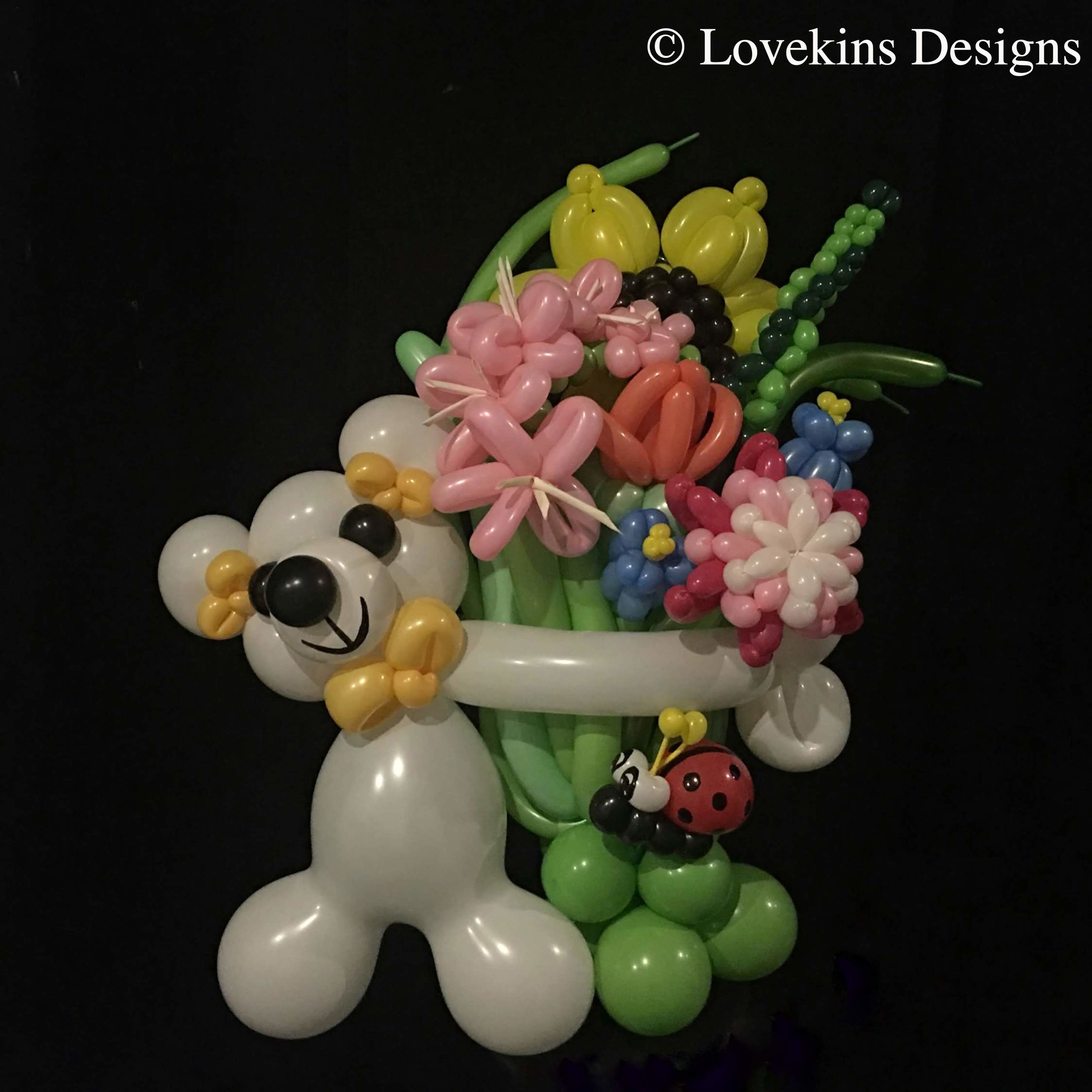 Bouquet. Traditional bouquet in bear hug with ladybug accent extra awesome and extra adorable.jpg