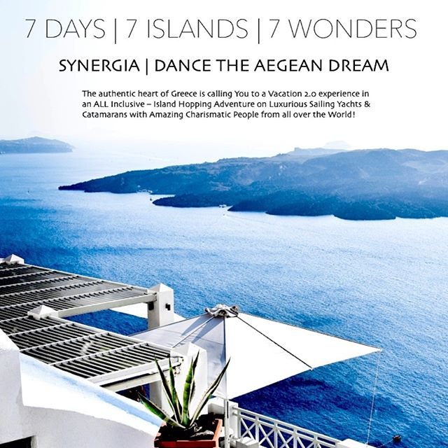 """""""The light of Greece opened my eyes, penetrated my pores, expanded my whole being."""" - Henry Miller  Join us, and make that joyous discovery with us this year in our 7 day, 7 island vacation experience """"Synergia 