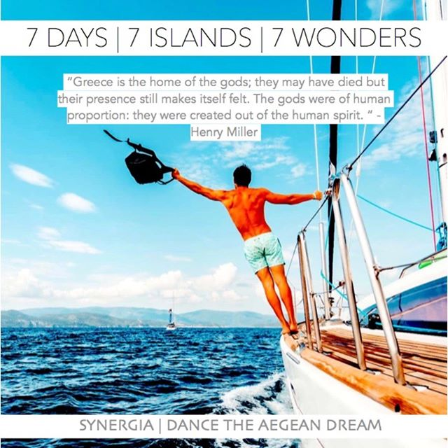 """Join us, and make that joyous journey with us this year in our 7 day, 7 island all-inclsuive vacation experience """"Synergia 