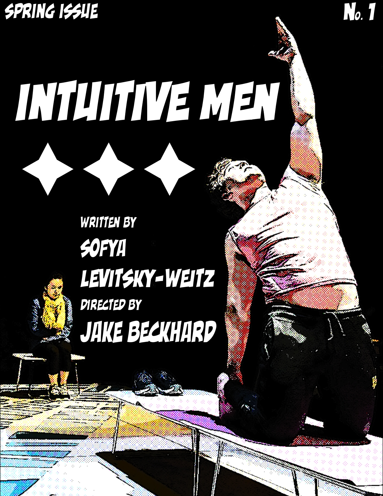 INTUITIVE MEN - by Sofya Levitsky-Weiss, directed by Jake BeckhardA hilarious and existential one act that explores both the complexities and the ignorance of the straight white man. (Williamstown Theatre Festival, and The Brick Theater)Beth, the neglected girlfriend.(Click here for stills.)