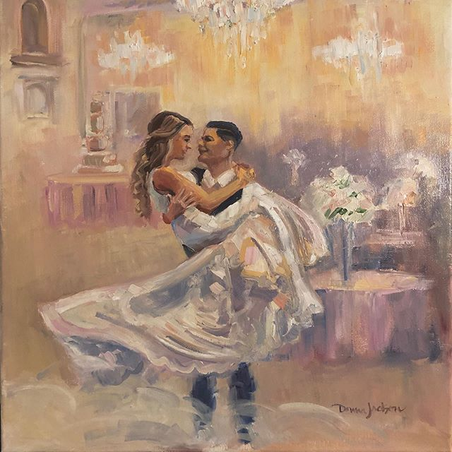 The first dance for Mariah and Aaron. This was an awesome evening at Knotting Hill Place. It was a privilege to set up live and paint! I loved capturing this special memory.