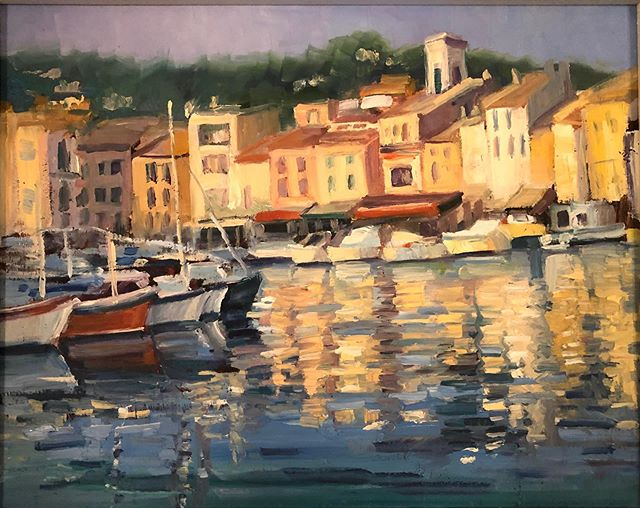 France Evening Reflections 11x14