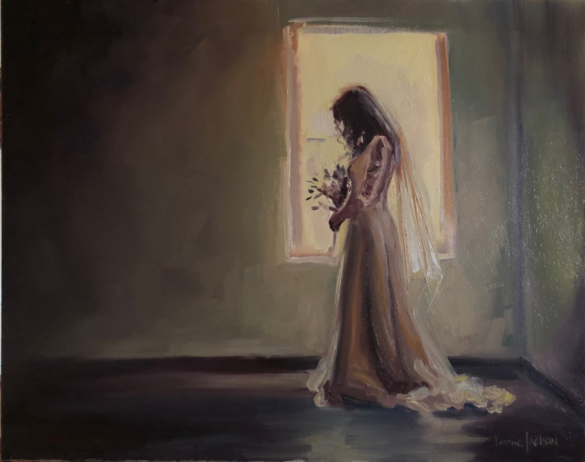 Our wedding ceremony was beautiful, but when I received this painting, it completely took my breath away. The peace and beauty of this day is translated perfectly through this painting. I'm in LOVE!  Kathleen Careara