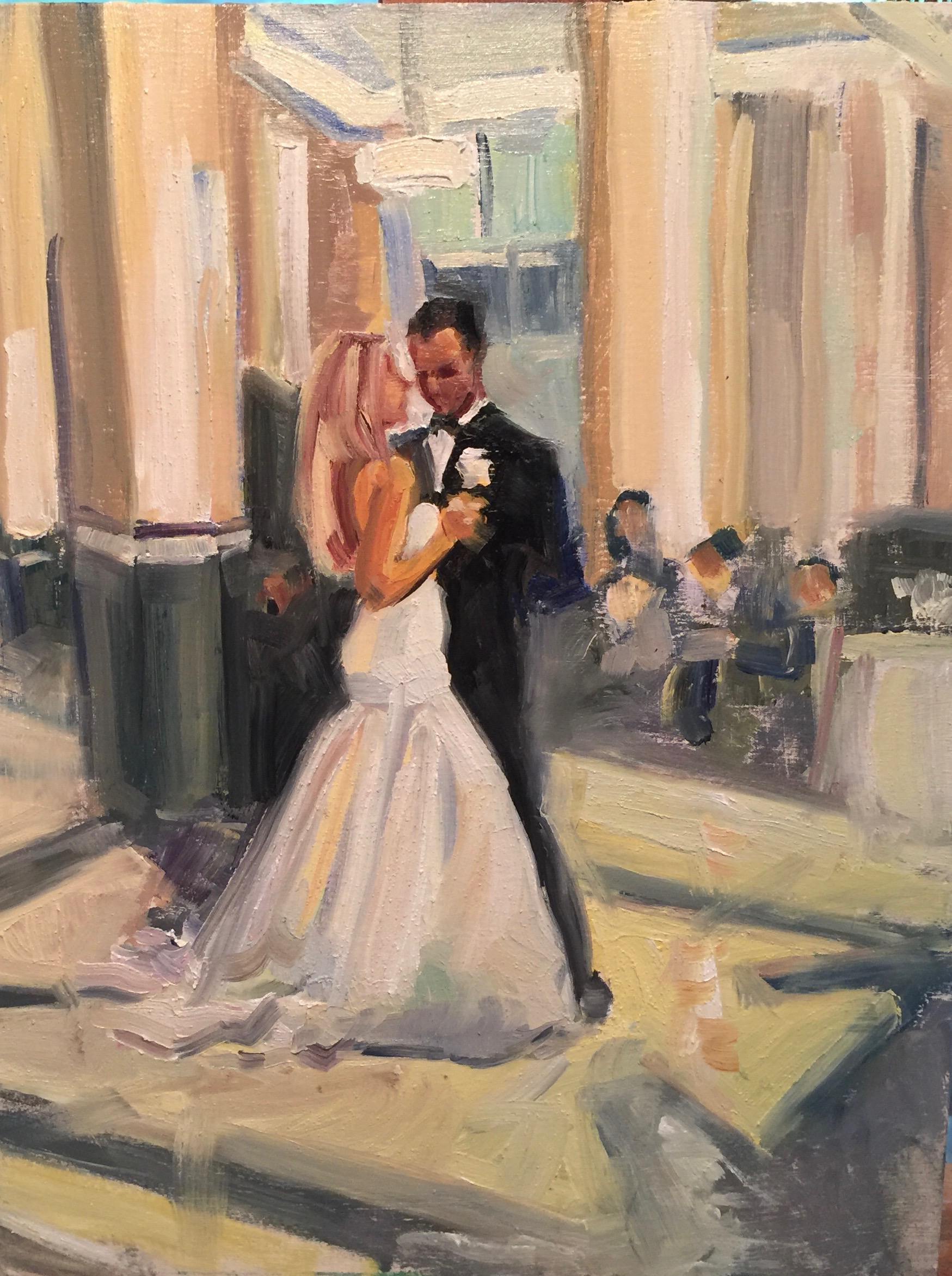 """""""The First Dance""""  Chip and Miranda Summerall in the Carlyle."""