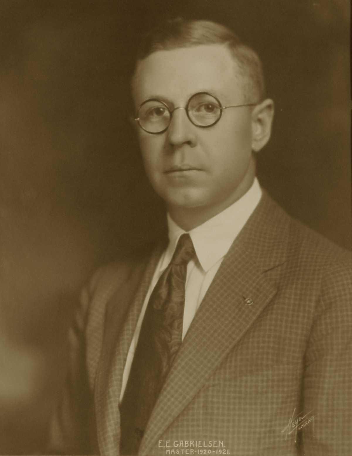 E. L. Gabrielsen, 1920-1921