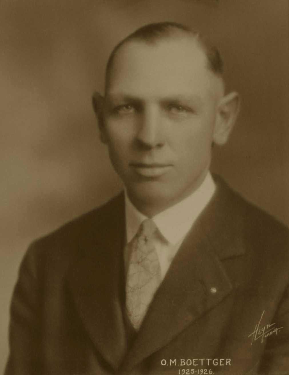 O. M. Boettger, 1925-1926