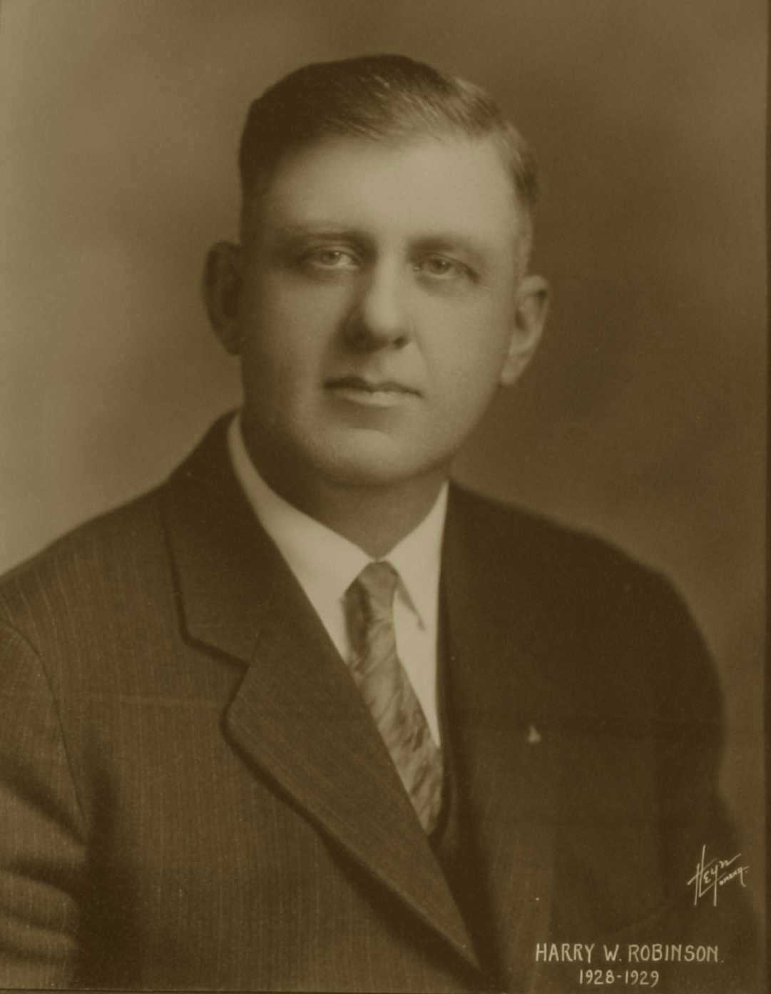 Harry W. Robinson, 1928-1929