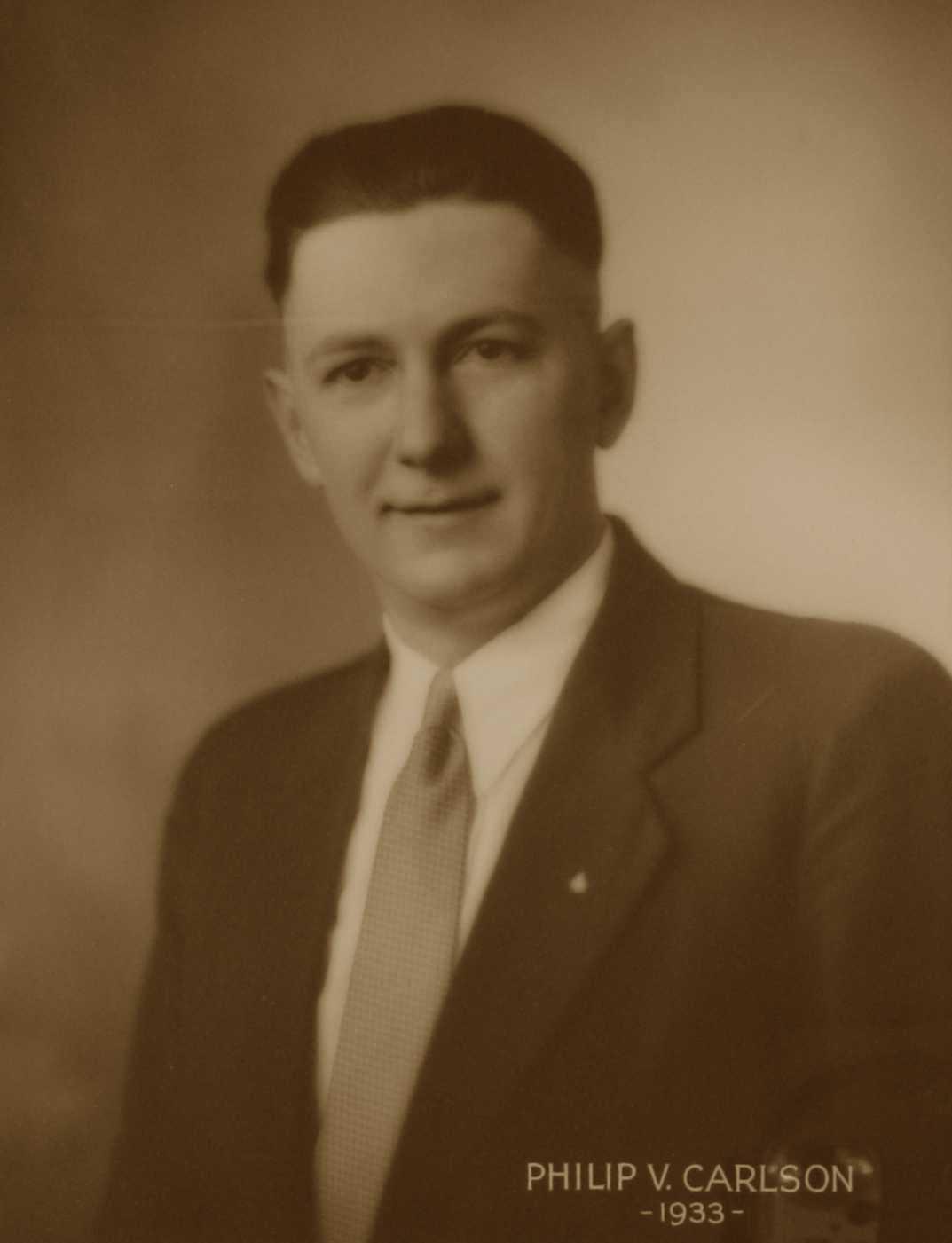 Philip V. Carlson, 1933