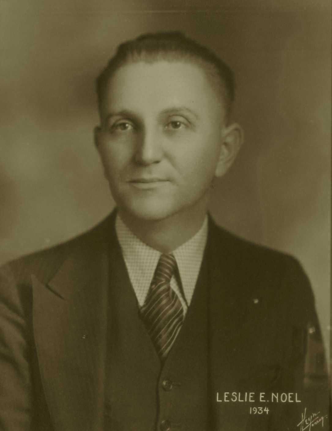 Leslie E. Noel, 1934
