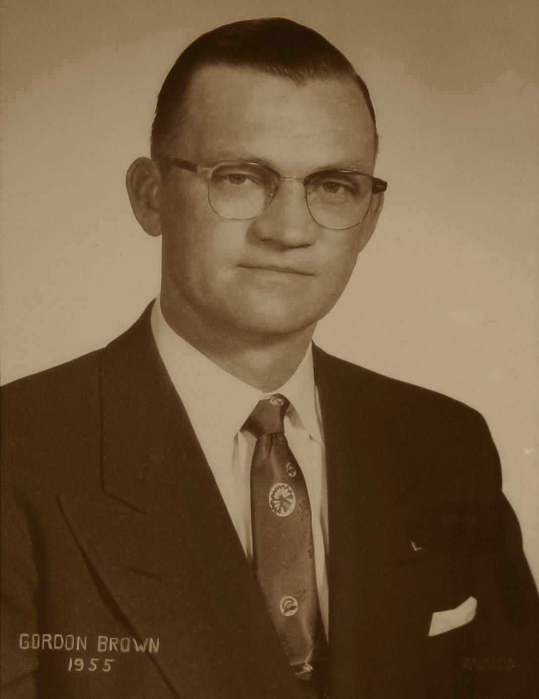 Gordon E. Brown, 1955
