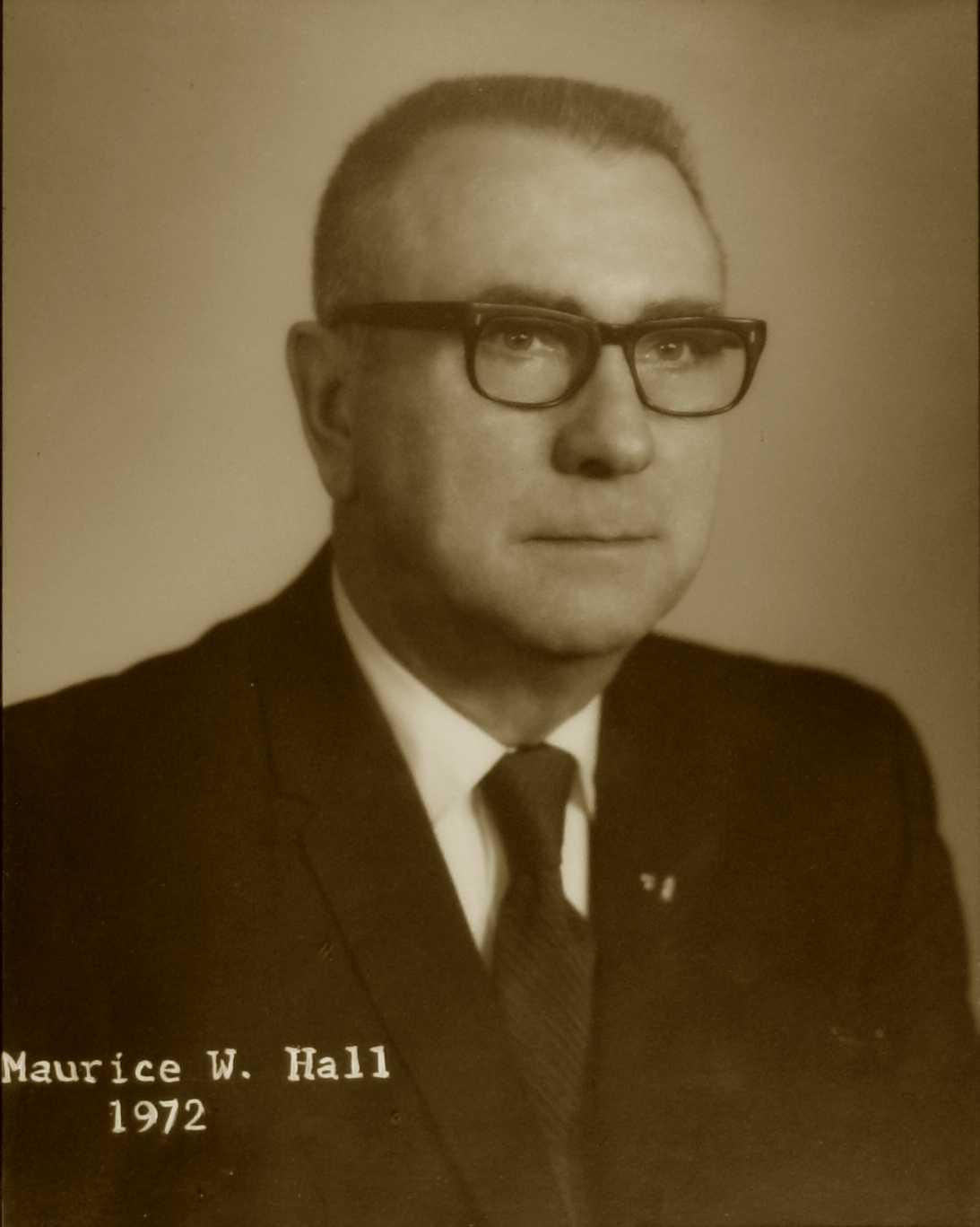 Maurice W. Hall, 1972