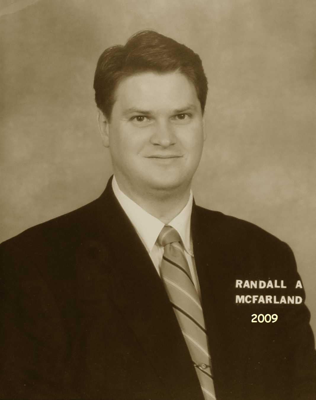 Randall A. McFarland, 2009