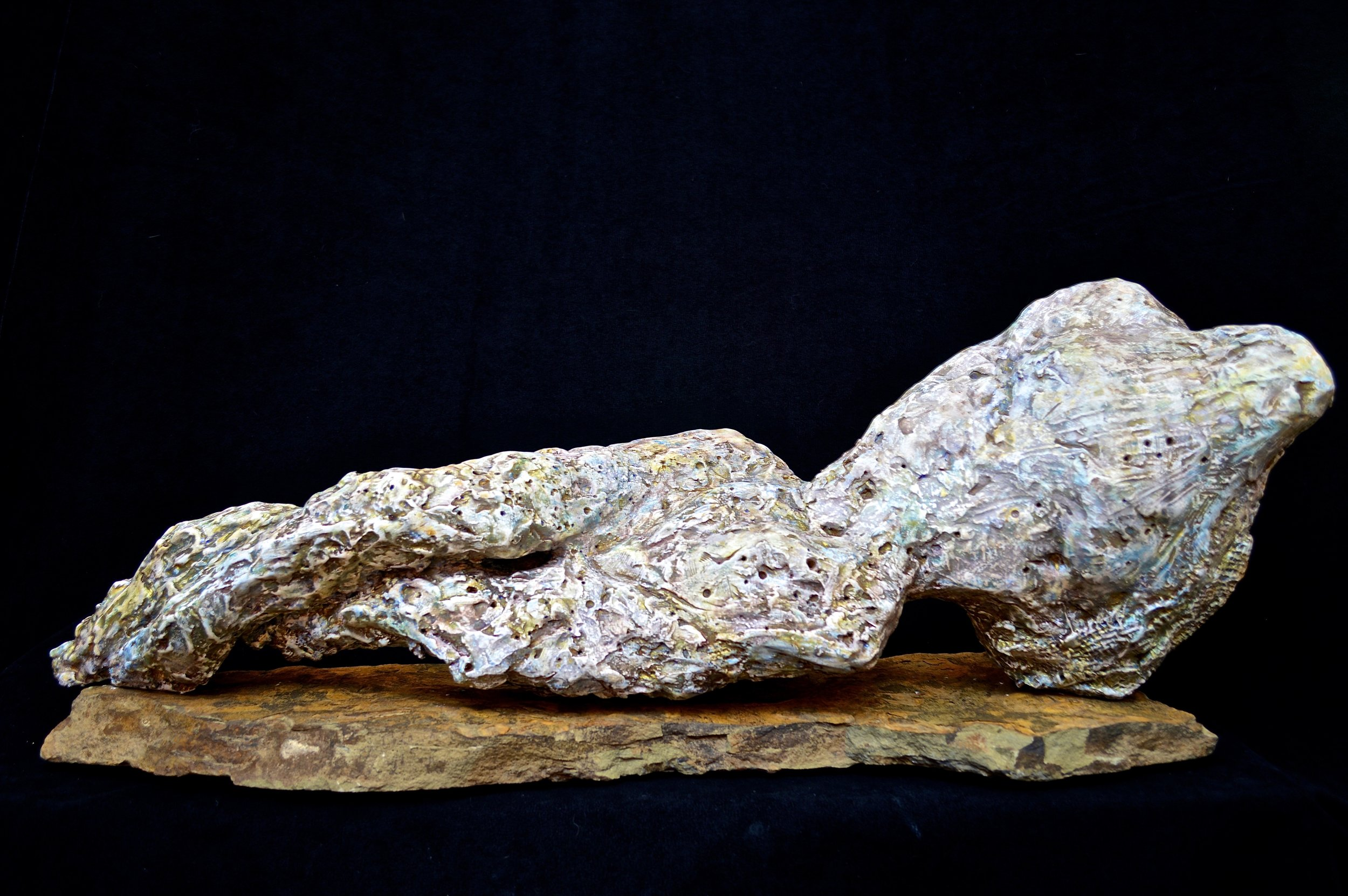 plaster, stone, oxides