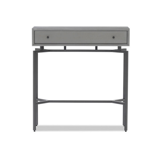 Grey with Pewter hardware