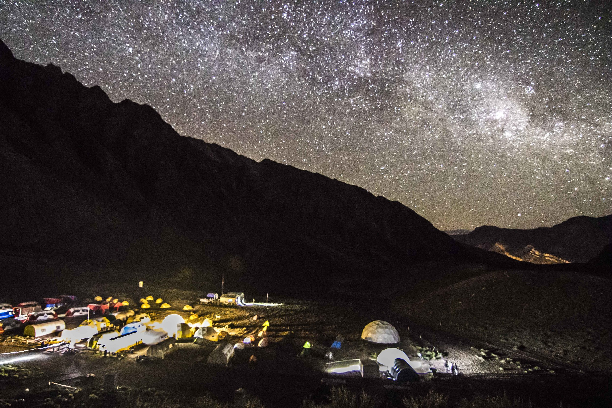 Aconcagua at night