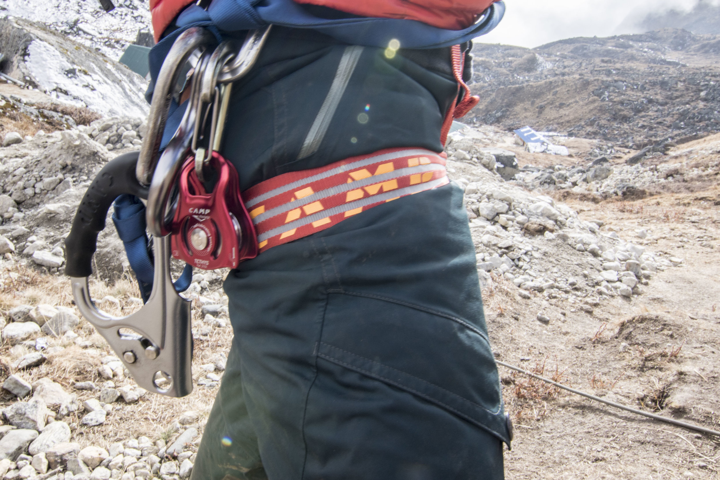 Glacier safety gear is an essential element of any AWE Nepal trip.