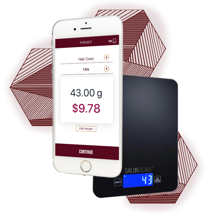 SalonScale Takes the Guesswork out of your Hair color costs. - Finally, a smart and modern way to weigh, charge, and track for the exact amount of color used in every bowl