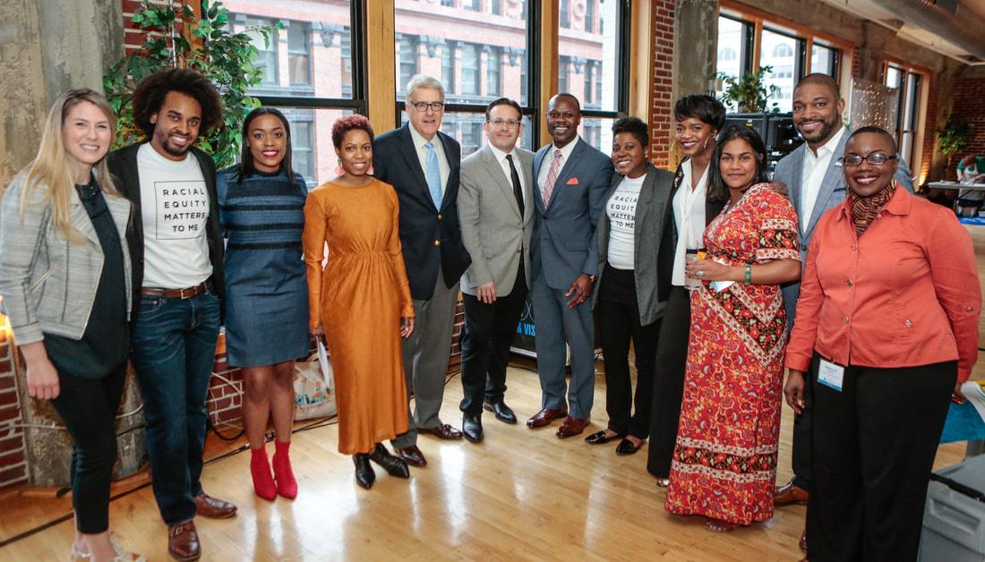 Forward Through Ferguson board, staff, and former Ferguson Commissioners // Photo by Lawrence Bryant