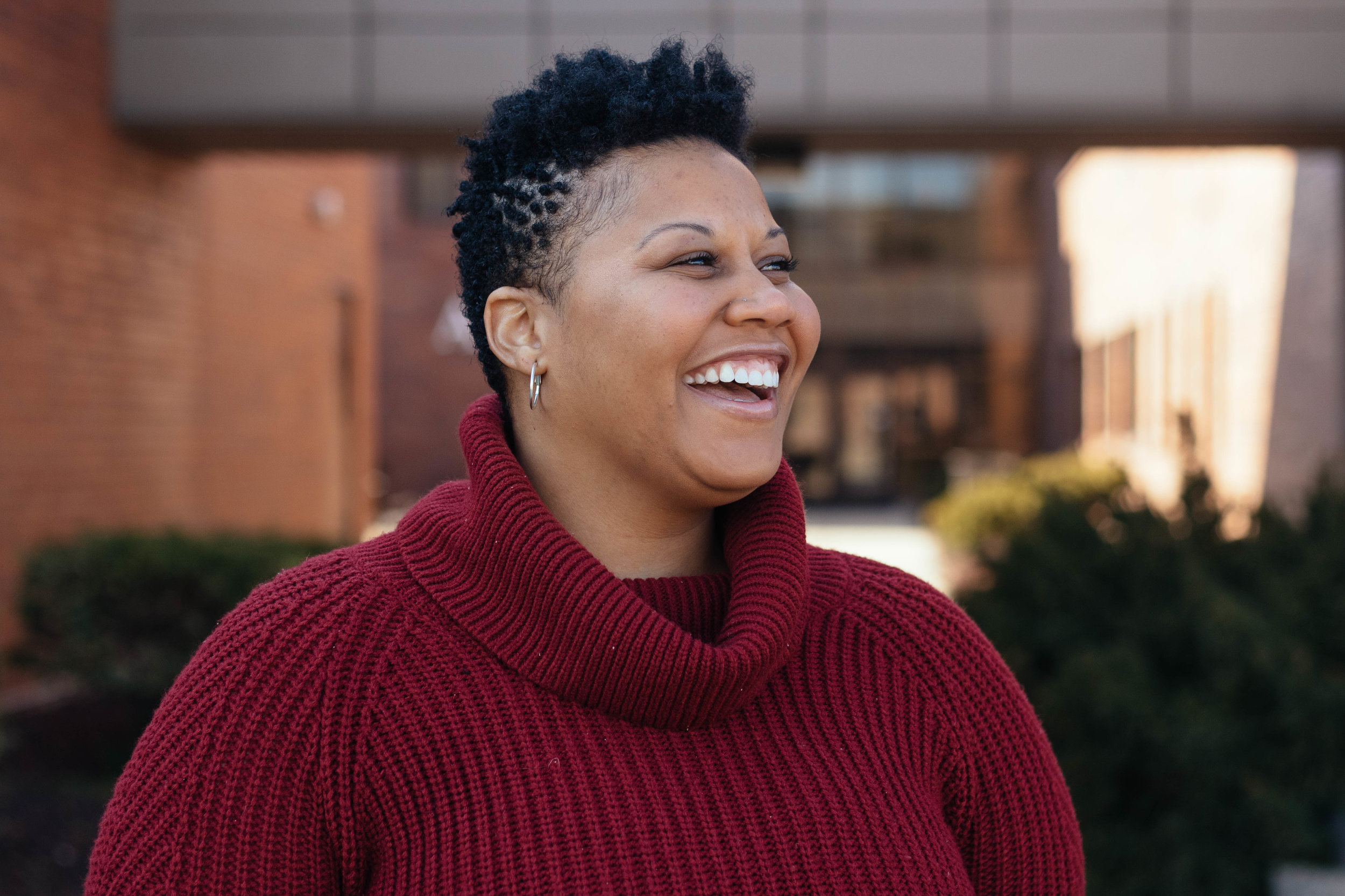 Jessica Fort is a power-builder in WEPOWER's East St. Louis Education Power-Building Academy, a seven-month community-based leadership and policy change program for residents of the area. Photo by Kristen Trudo.