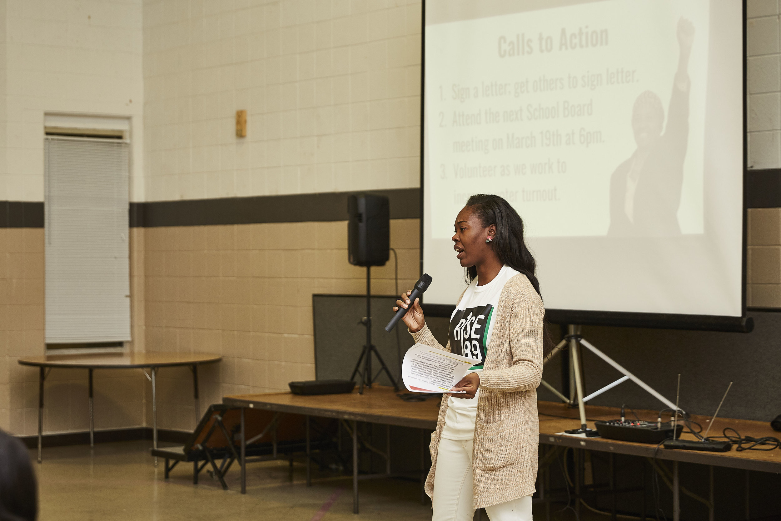 Shontay Ford outlines the calls to action.
