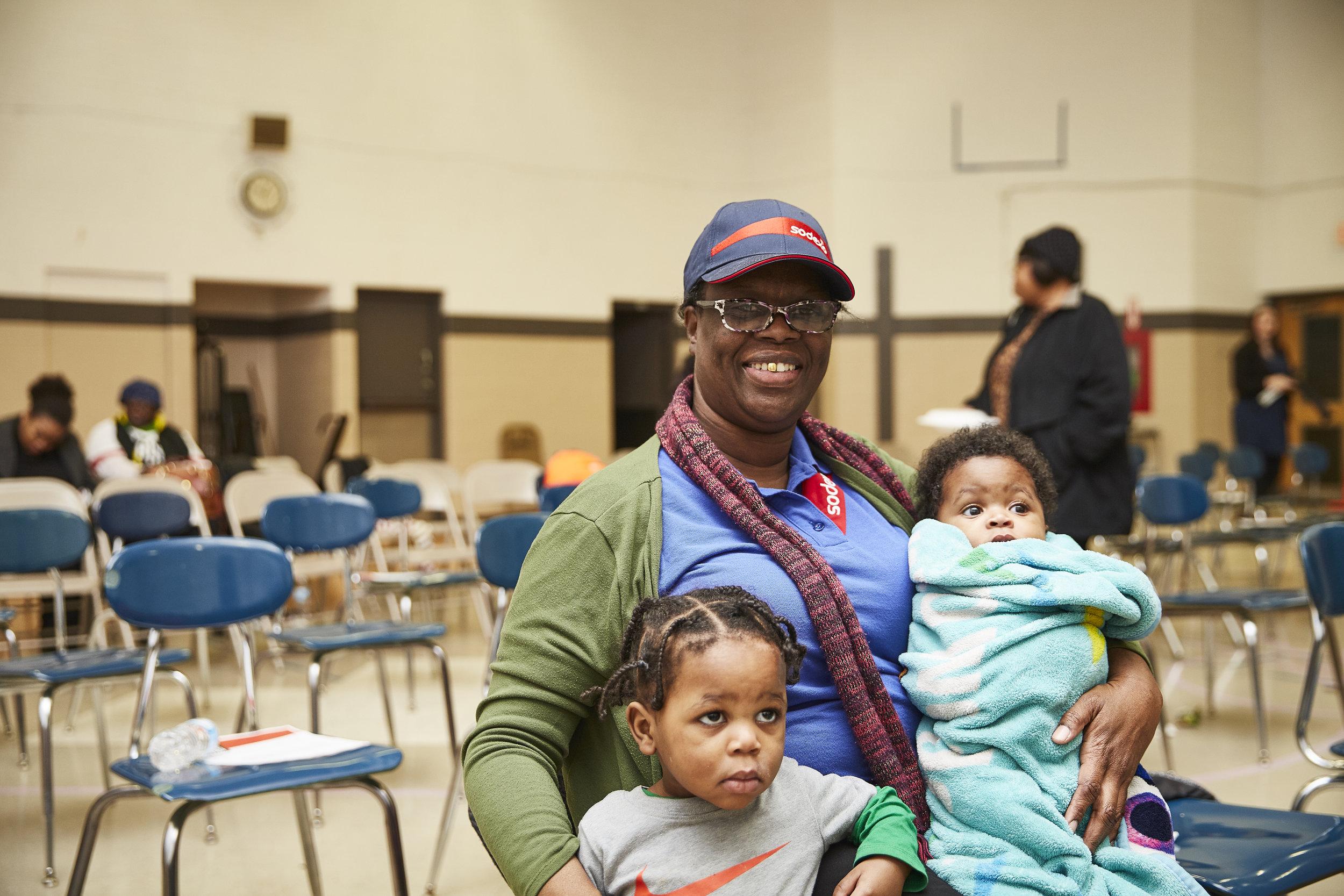 Pearl Burton, sister of Rise 189 member Toni Burton and children