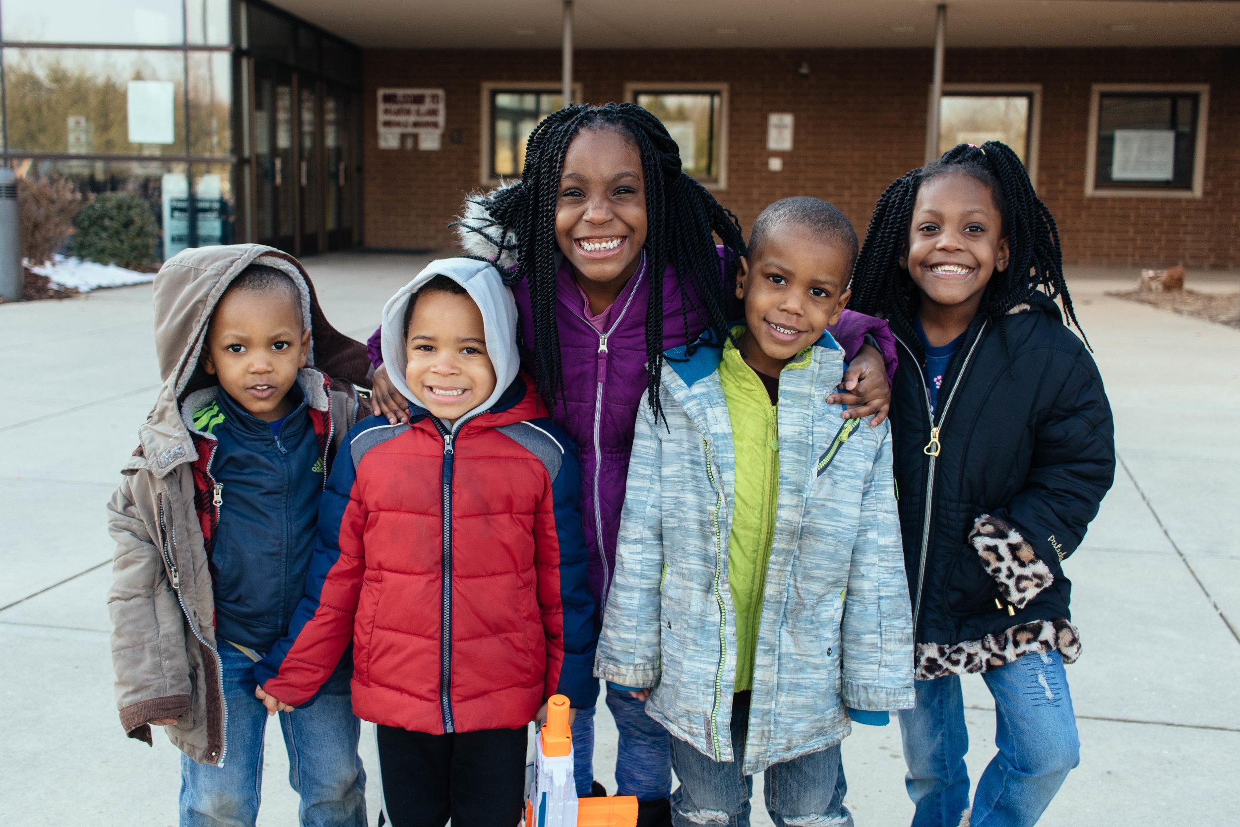 Brenda's children with Marie and Sam Franklin 's grandson. Photo by Kristen Trudo.
