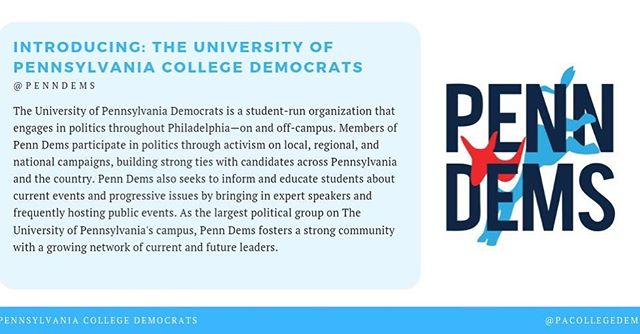 Meet the @penndems! We're so excited to keep working with our friends in Philadelphia.