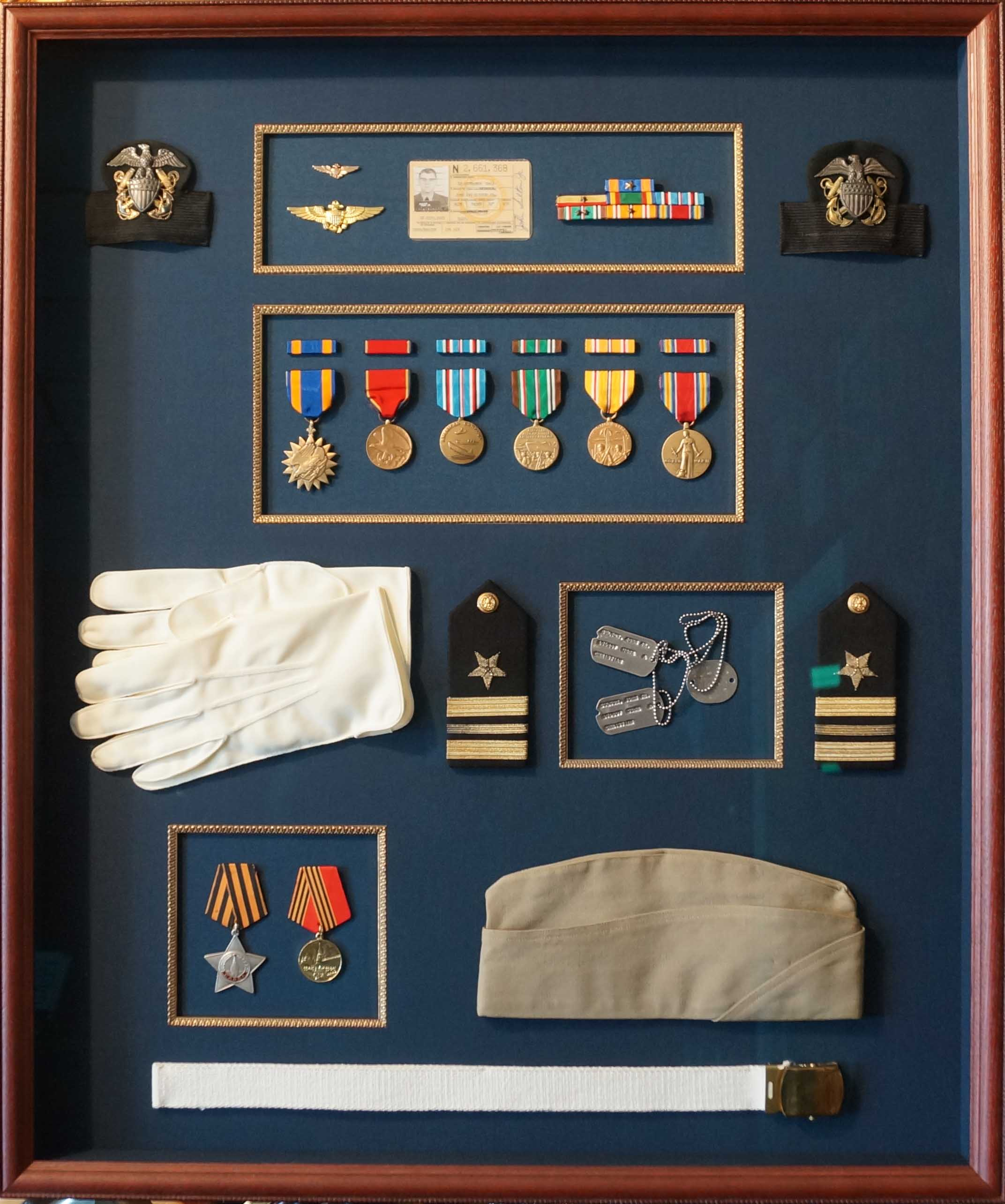 MILITARY SERVICE & HONORARY SHADOWBOXES