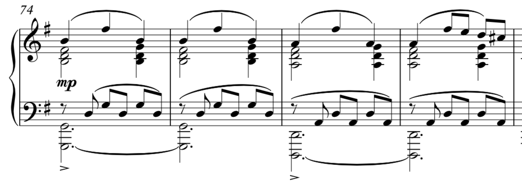 The grand climax of the piece, with significant developments from the initial themes.