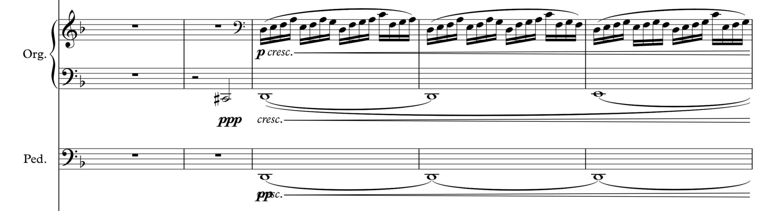 Introduction of the organ and it's counter melody.