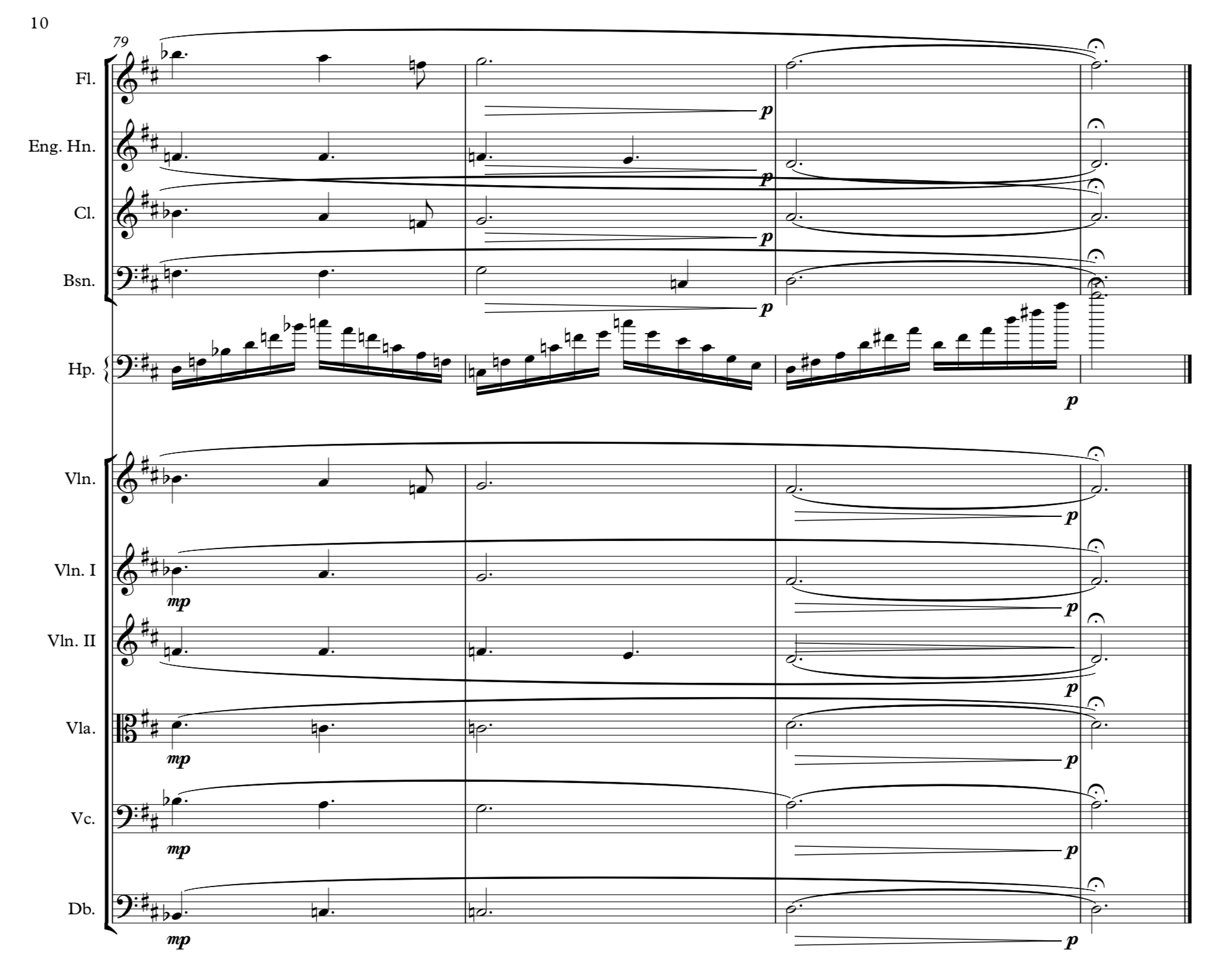 Final four bars, with accidentals in their full glory.