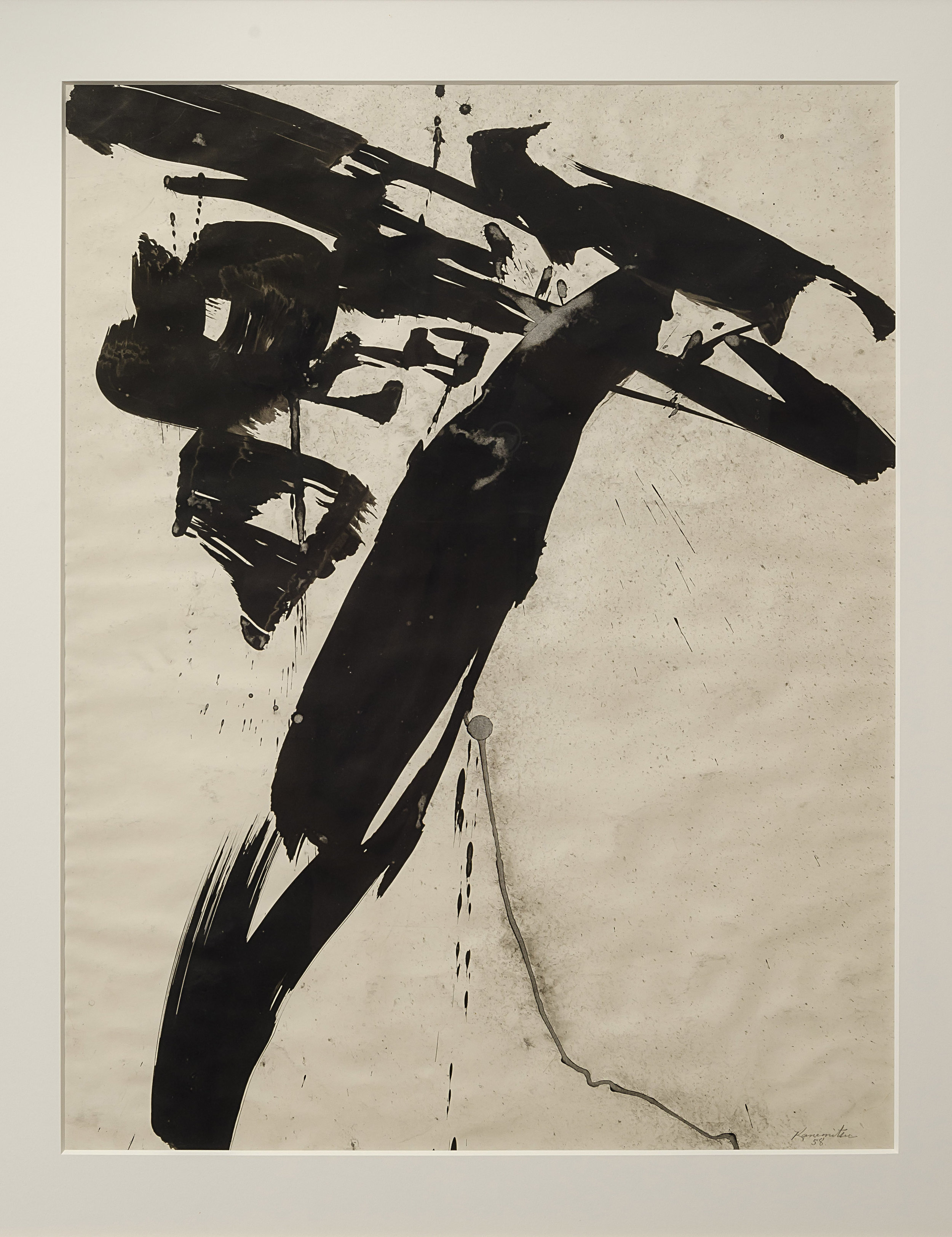 Cat   1958  sumi ink on paper  25 x 19 5/8 inches, 63.5 x 49.8 centimeters