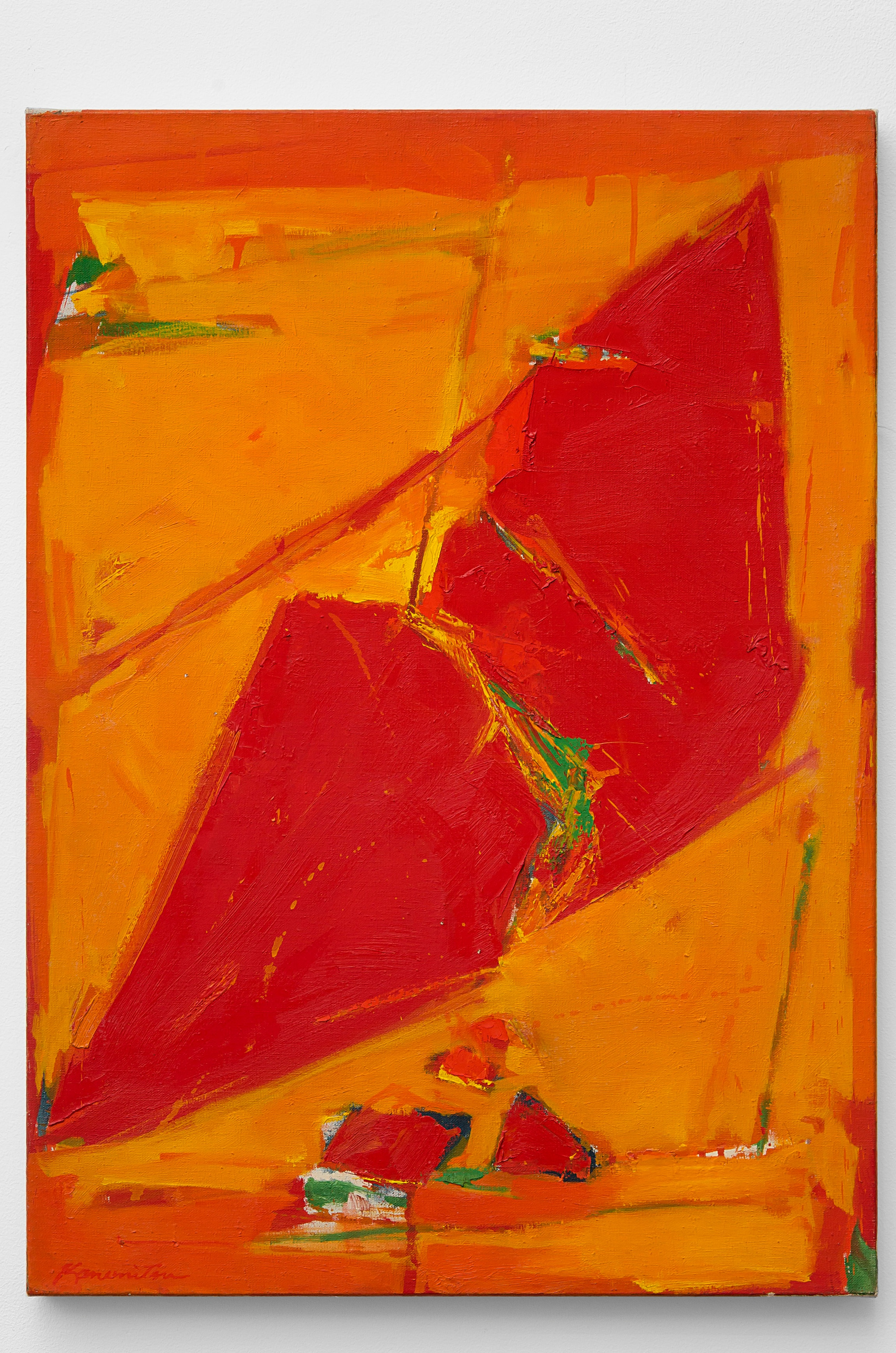 Untitled (Red)   1960  acrylic on canvas  28 x 20 inches, 71.1 x 50.8