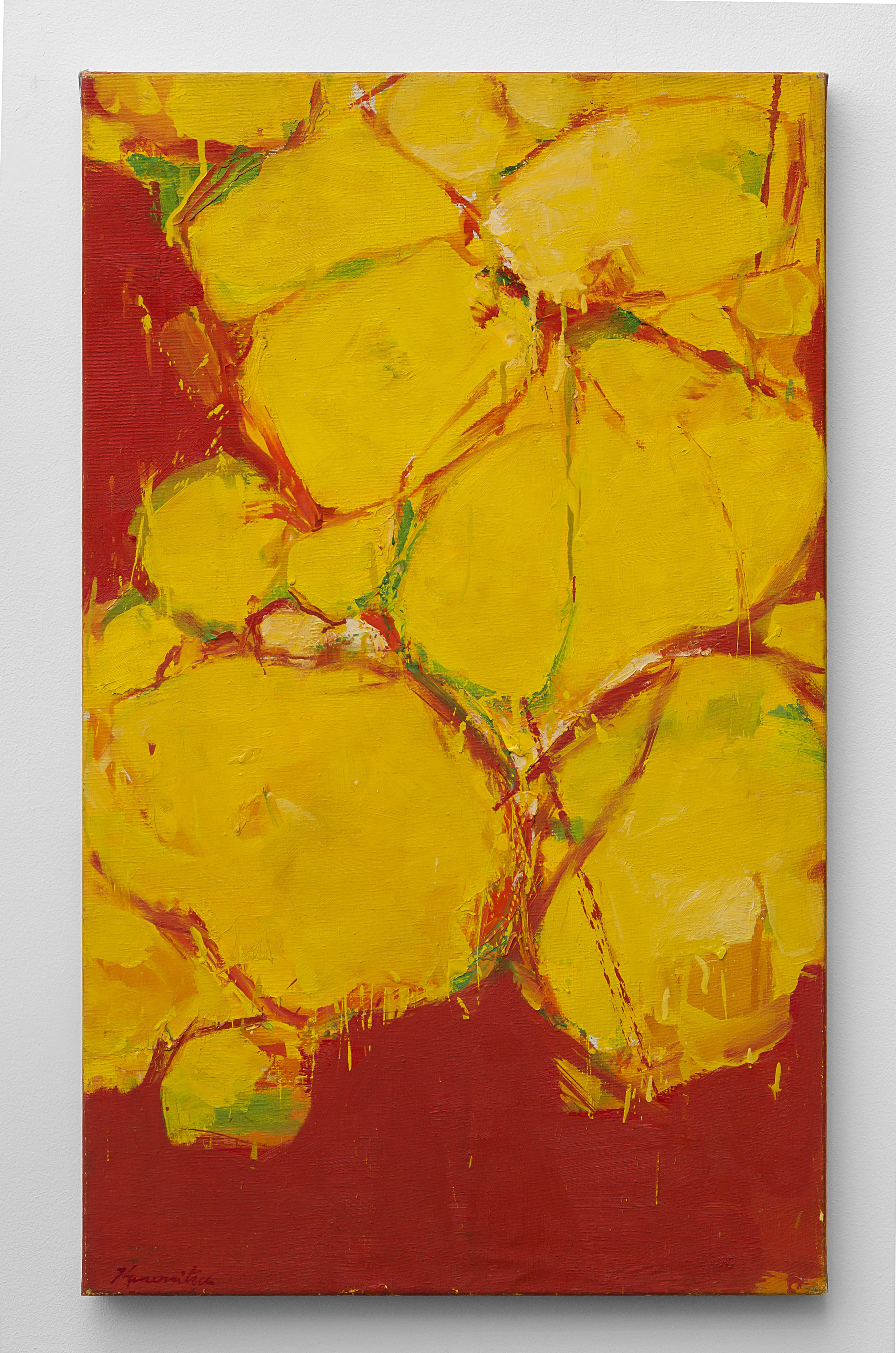 Untitled (Yellow)   1960  acrylic on canvas  30 x 18 inches, 76.2 x 45.7