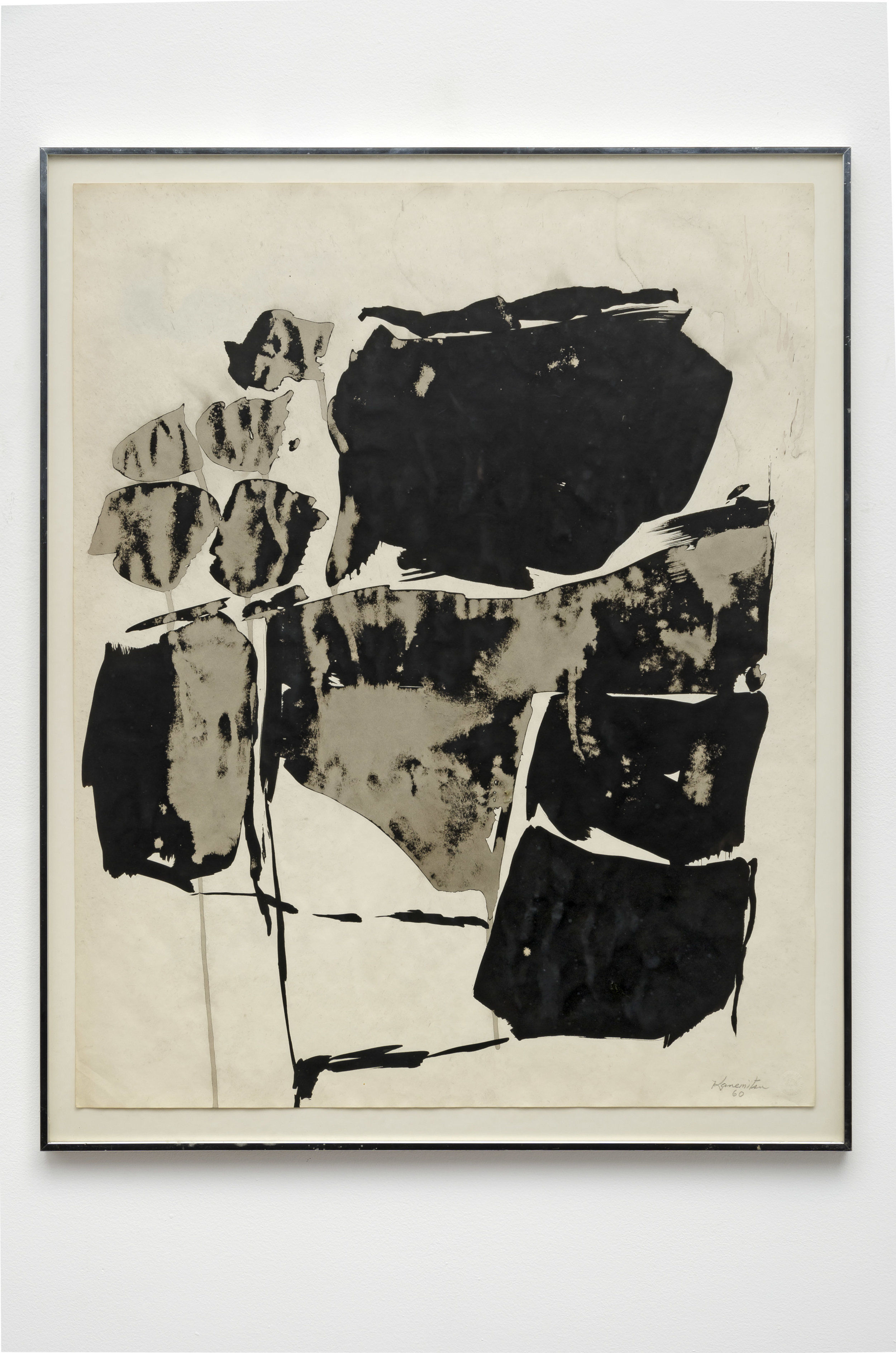 16- 20   1960  sumi ink on paper  29 x 23 inches, 73.7 x 58.4 centimeters
