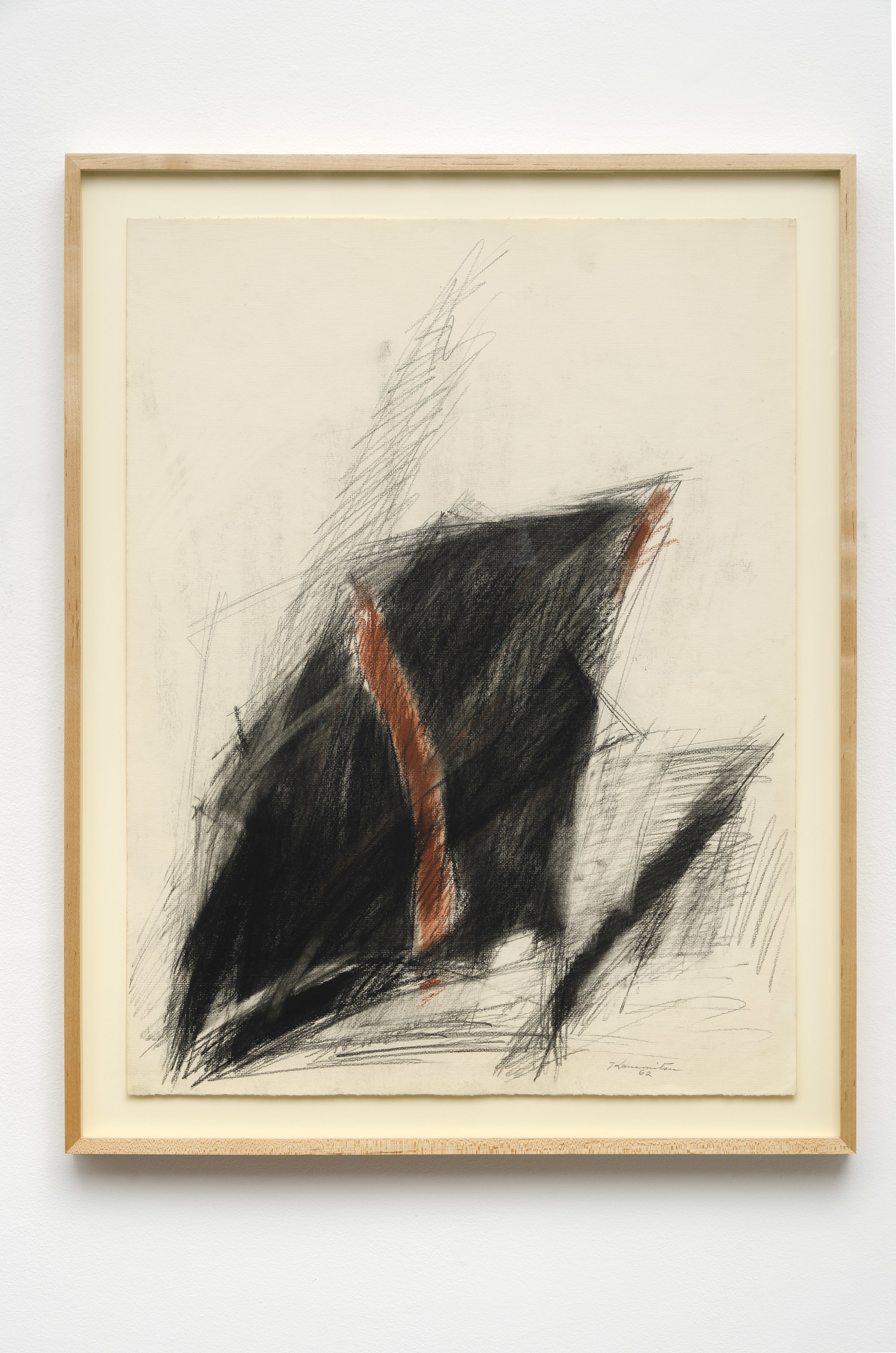 Untitled   1962  graphite and pastel on paper  30 x 23.5 inches, 76.2 x 59.7 centimeters