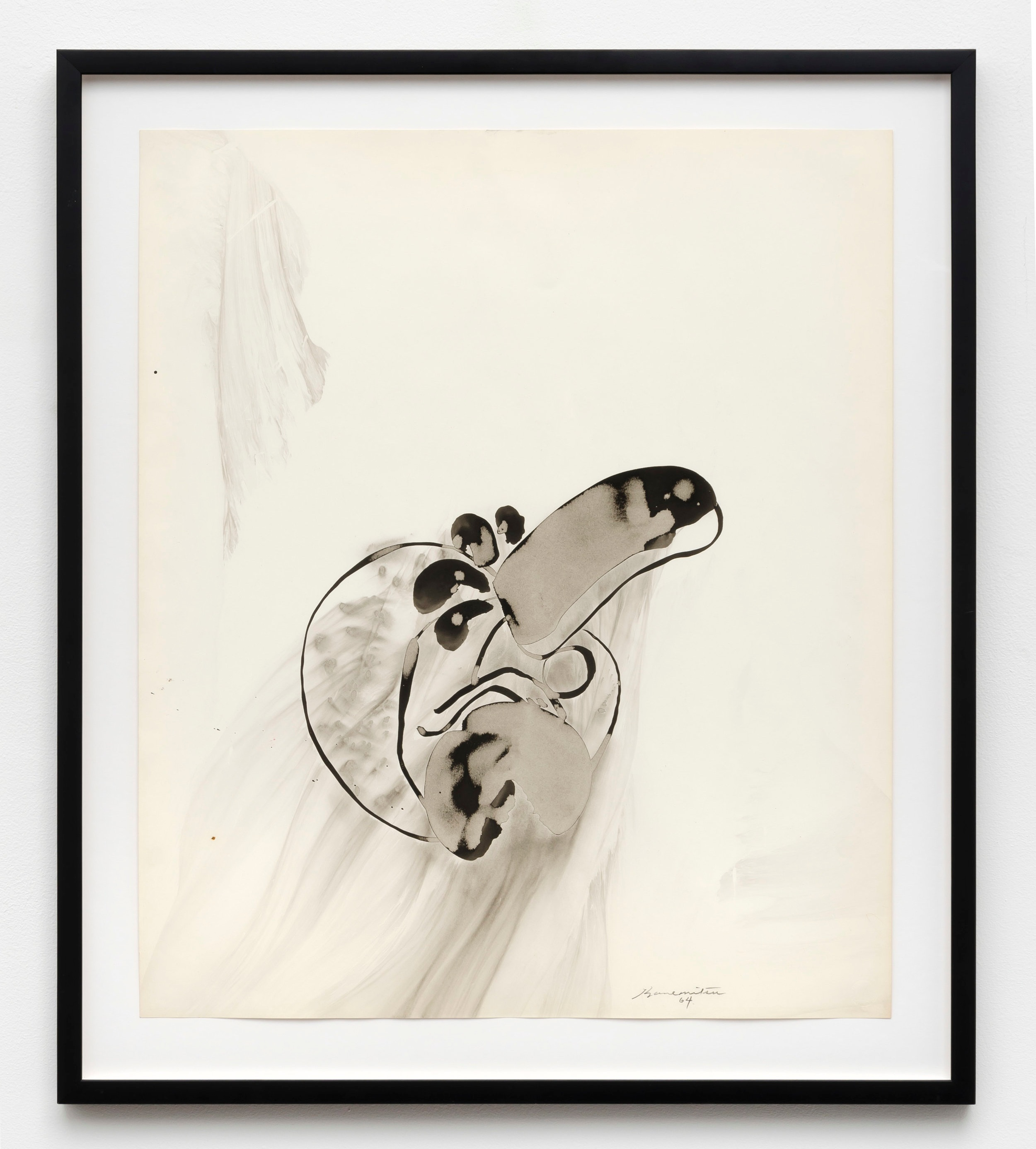 Untitled   1964  sumi ink on paper  32.5 x 28 inches, 82.5 x 71.1 centimeters