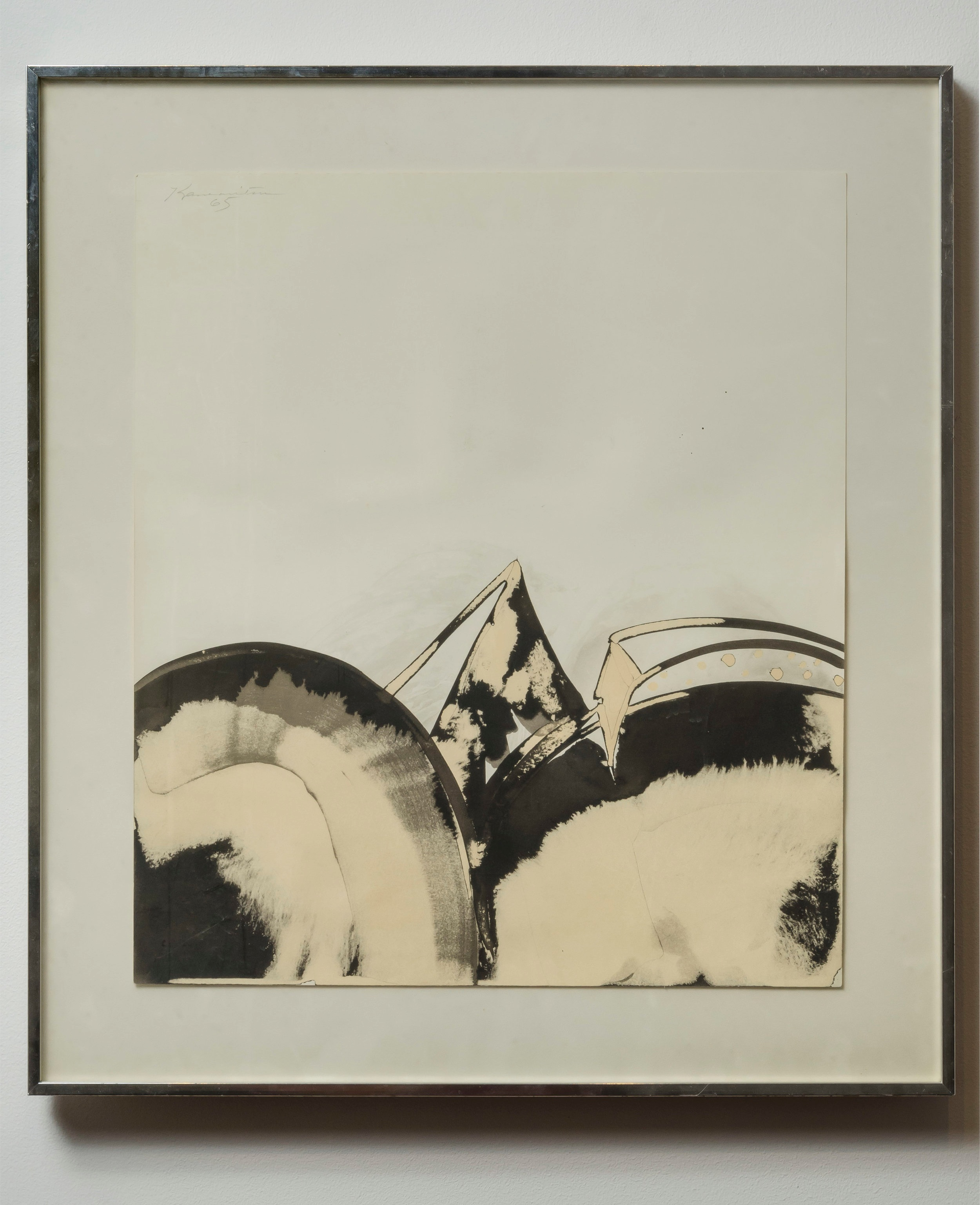 Untitled   1965  sumi ink on paper  16 x 14 inches, 40.6 x 35.6 centimeters