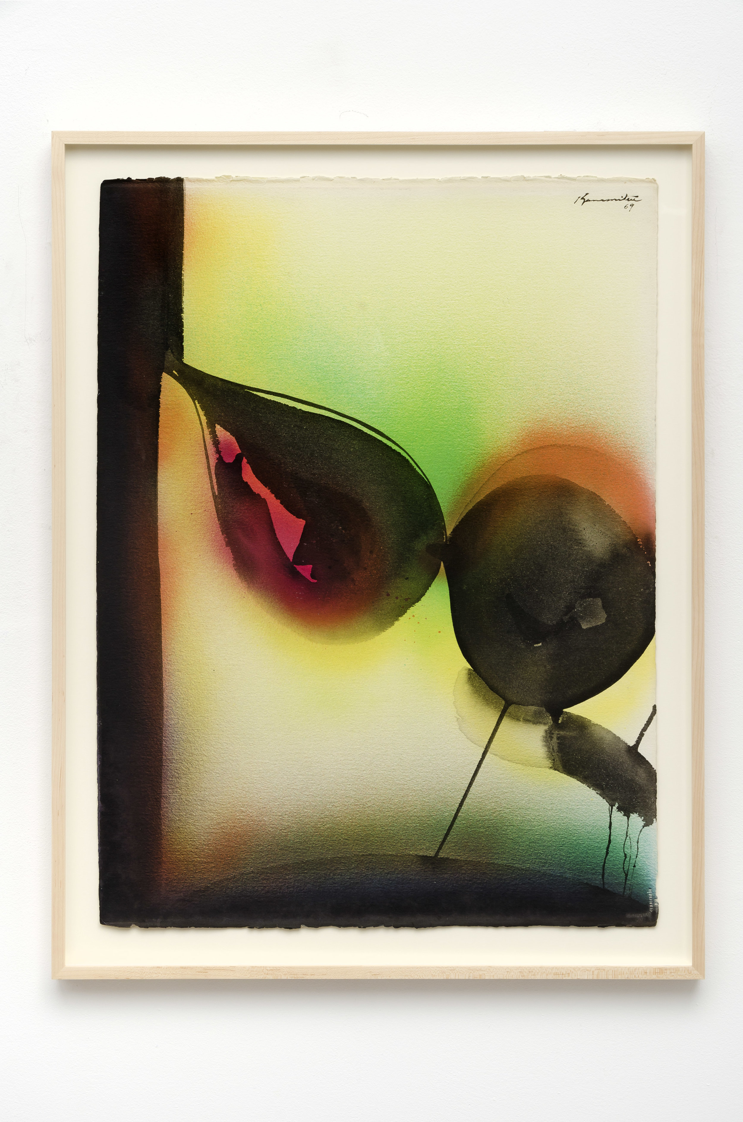 Untitled   1969  sumi and watercolor on paper  34.25 x 26.25 inches, 87 x 66.7 centimeters