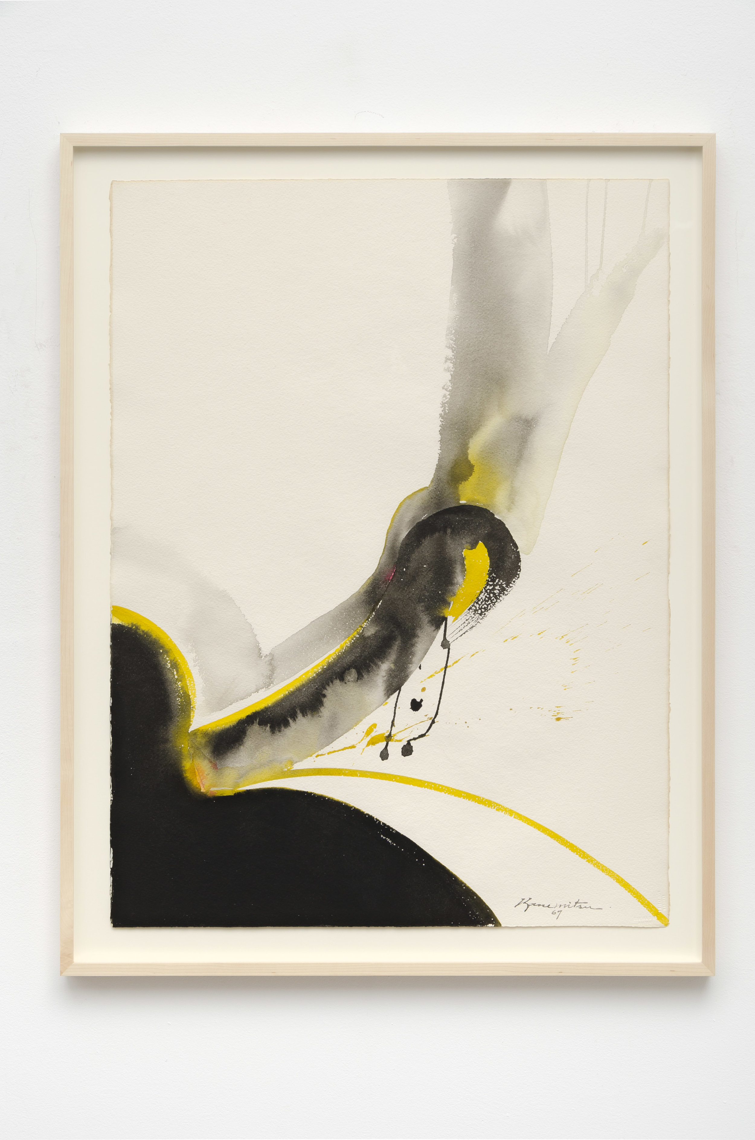 Untitled   1969  sumi and watercolor on paper  33 1/2 x 25 5/8 inches, 85.1 x 65.1 centimeters