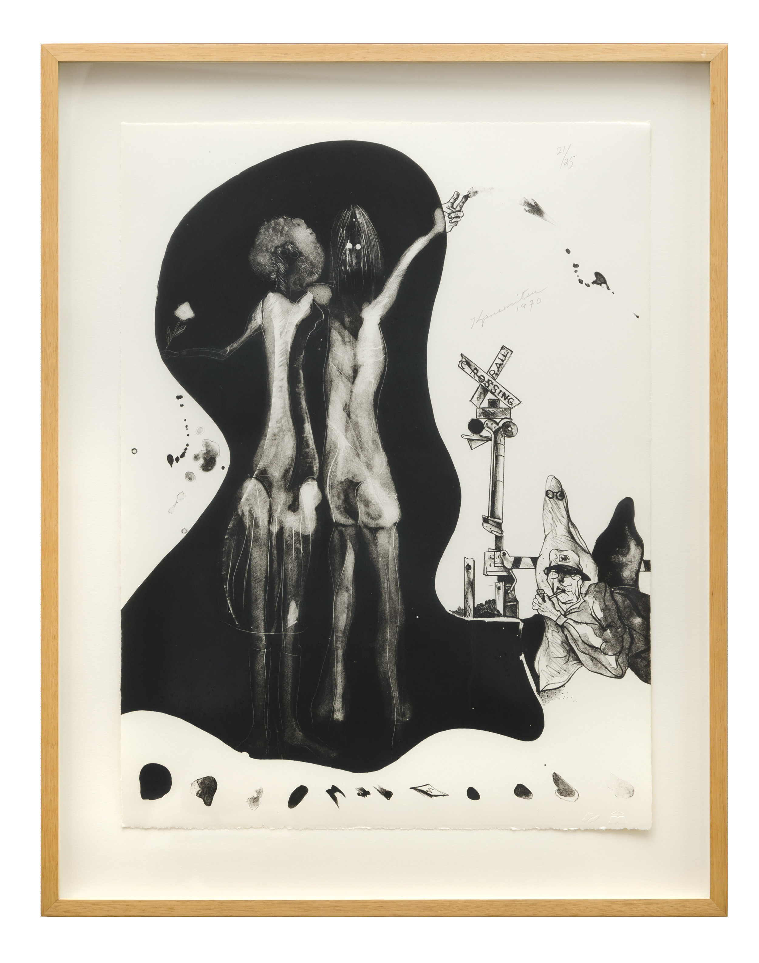 Hitchhiker Ghost   1970  lithograph  20 x 15 inches, 50.8 x 38.1 centimeters