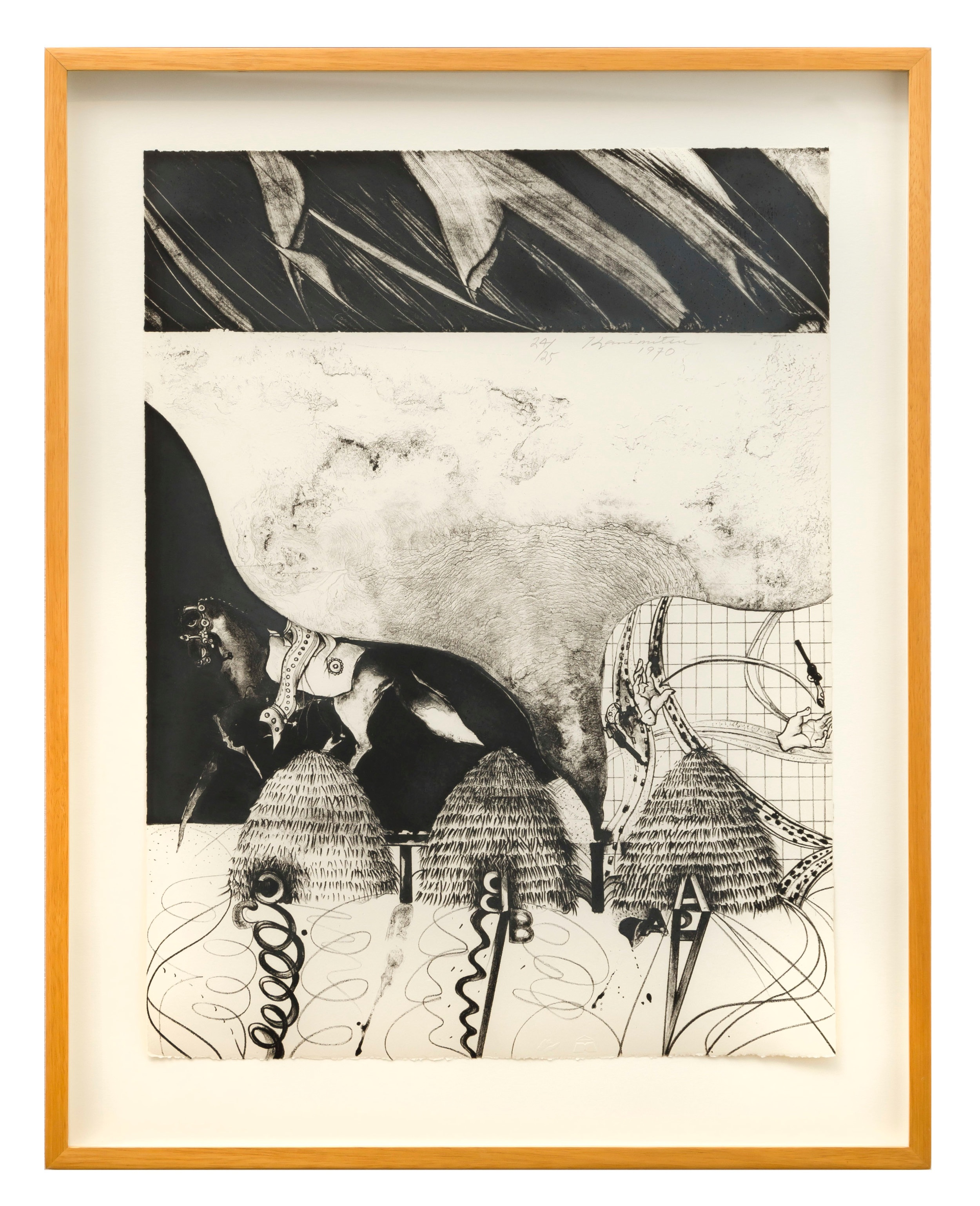 Metamorphosis L.A. II   1970  lithograph  20 x 15 inches, 50.8 38.1 centimeters