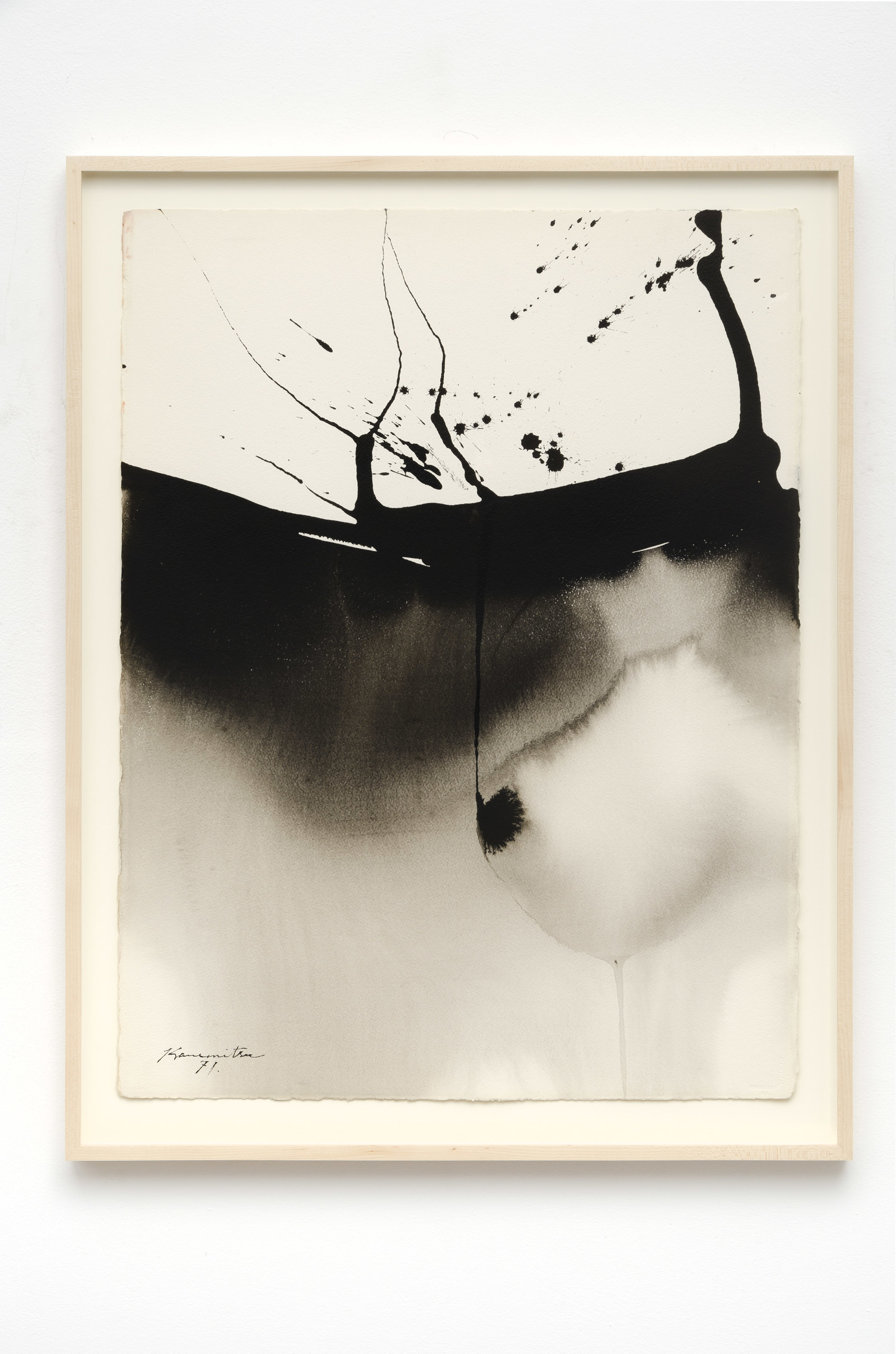 Untitled   1971  sumi ink on paper  33.75 x 26.25 inches, 85.7 x 66.7 centimeters