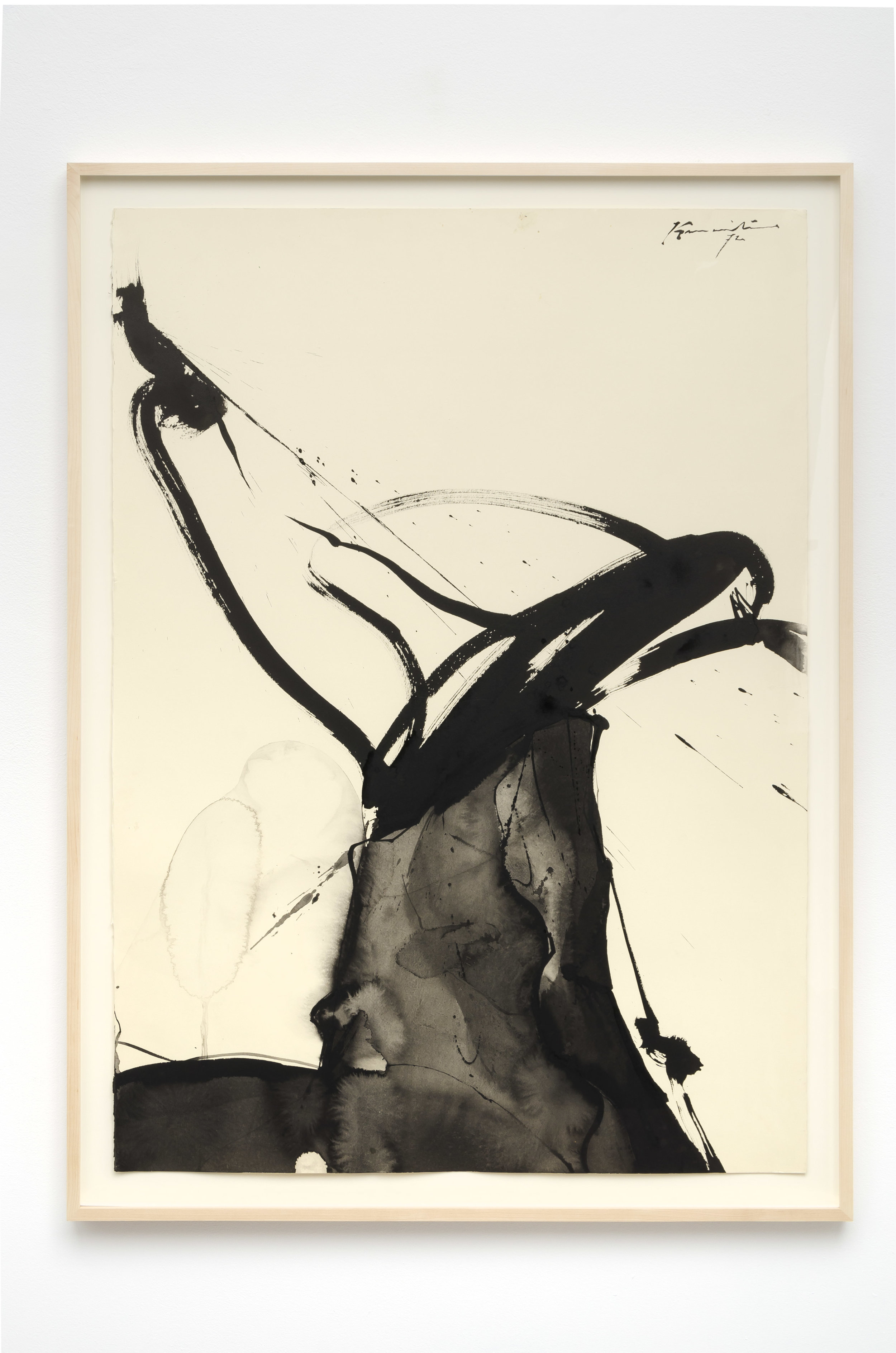 Untitled   1972  sumi ink on paper  43 x 31 inches, 109.2 x 78.7 centimeters