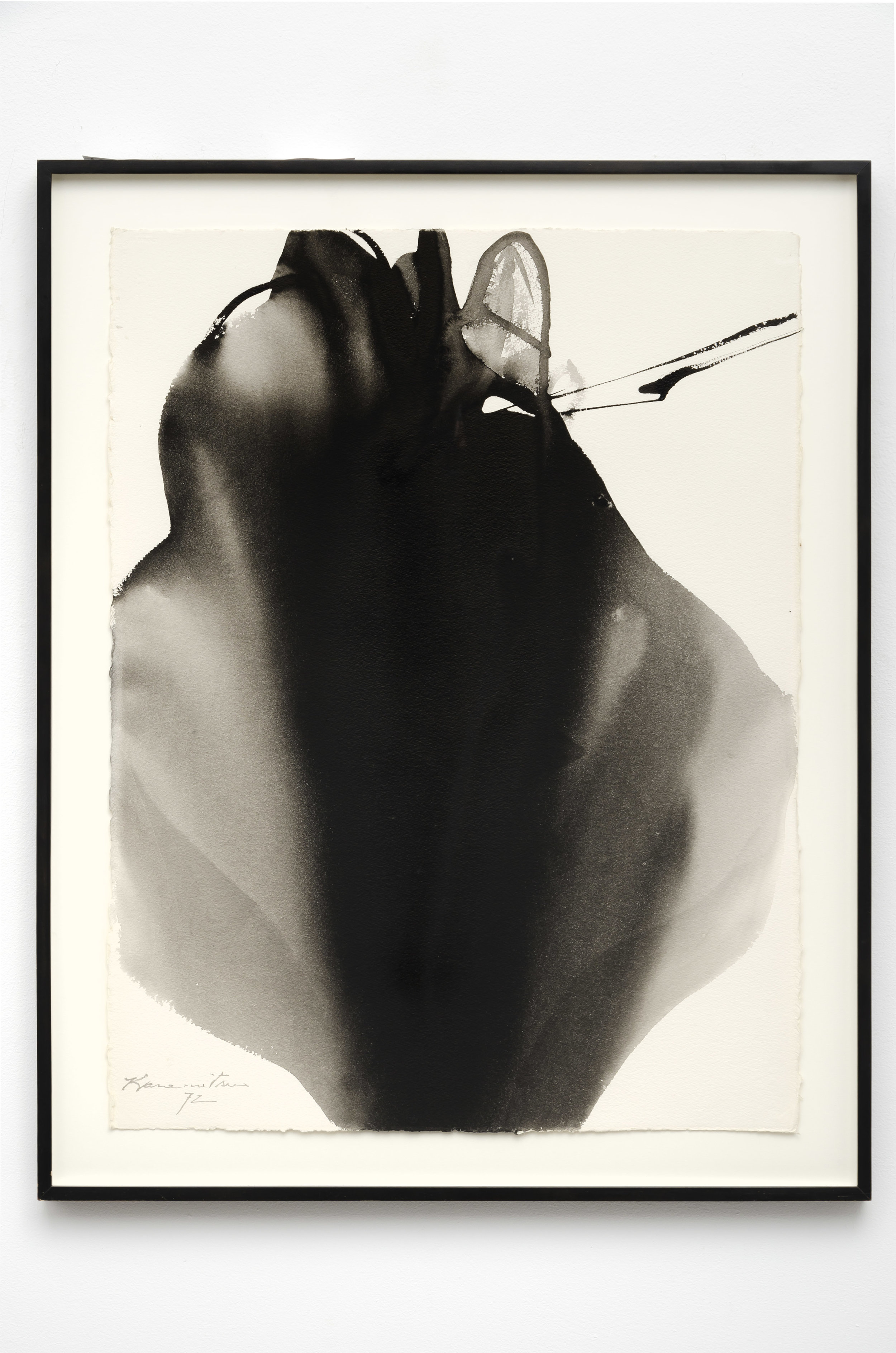Untitled #35   1972  sumi on paper  35 x 27.5 inches, 88.9 x 69.8 centimeters
