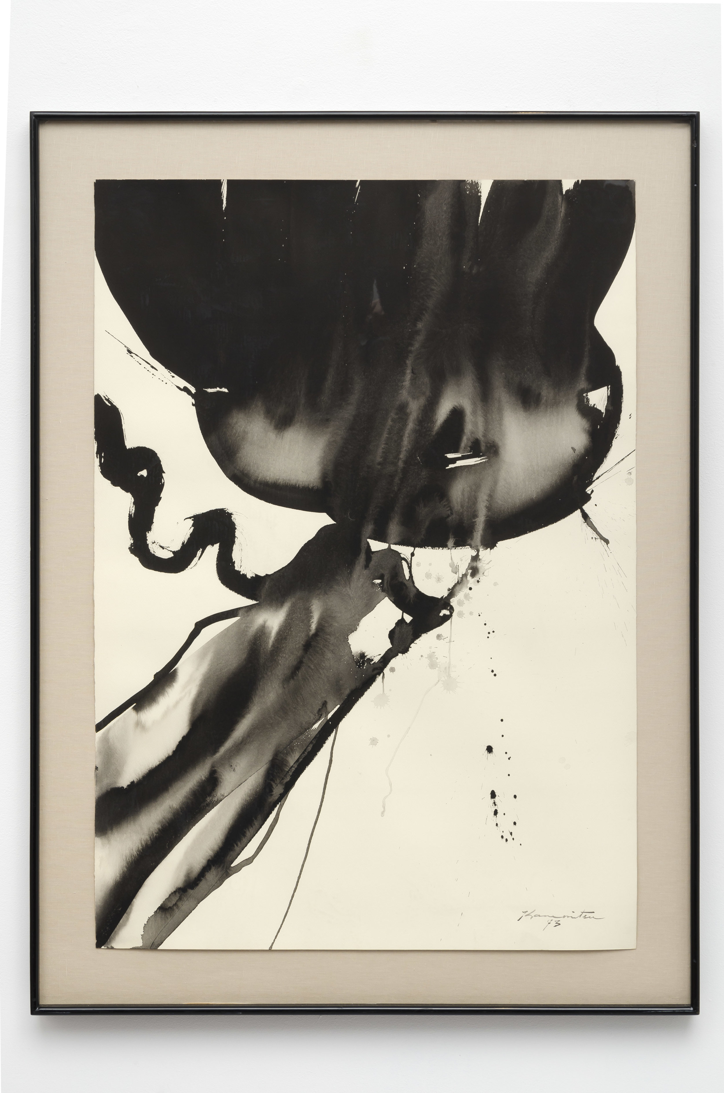 Last Page 12:00 A.M.   1973  sumi on paper  46 x 34 inches, 116.8 x 86.4 centimeters