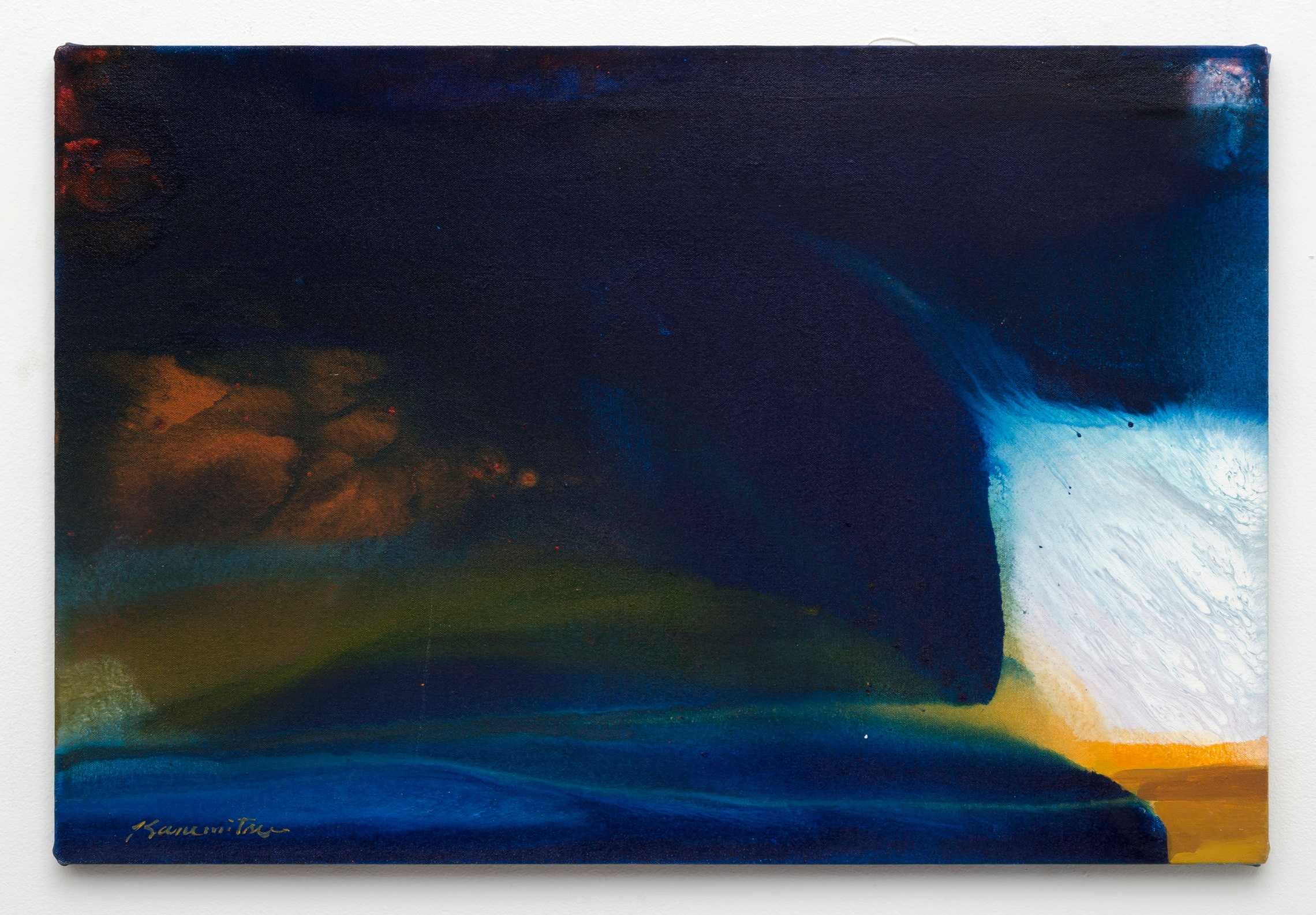 Winter Night   1983  acrylic on canvas  20 x 30 inches, 50.8 x 76.2 centimeters